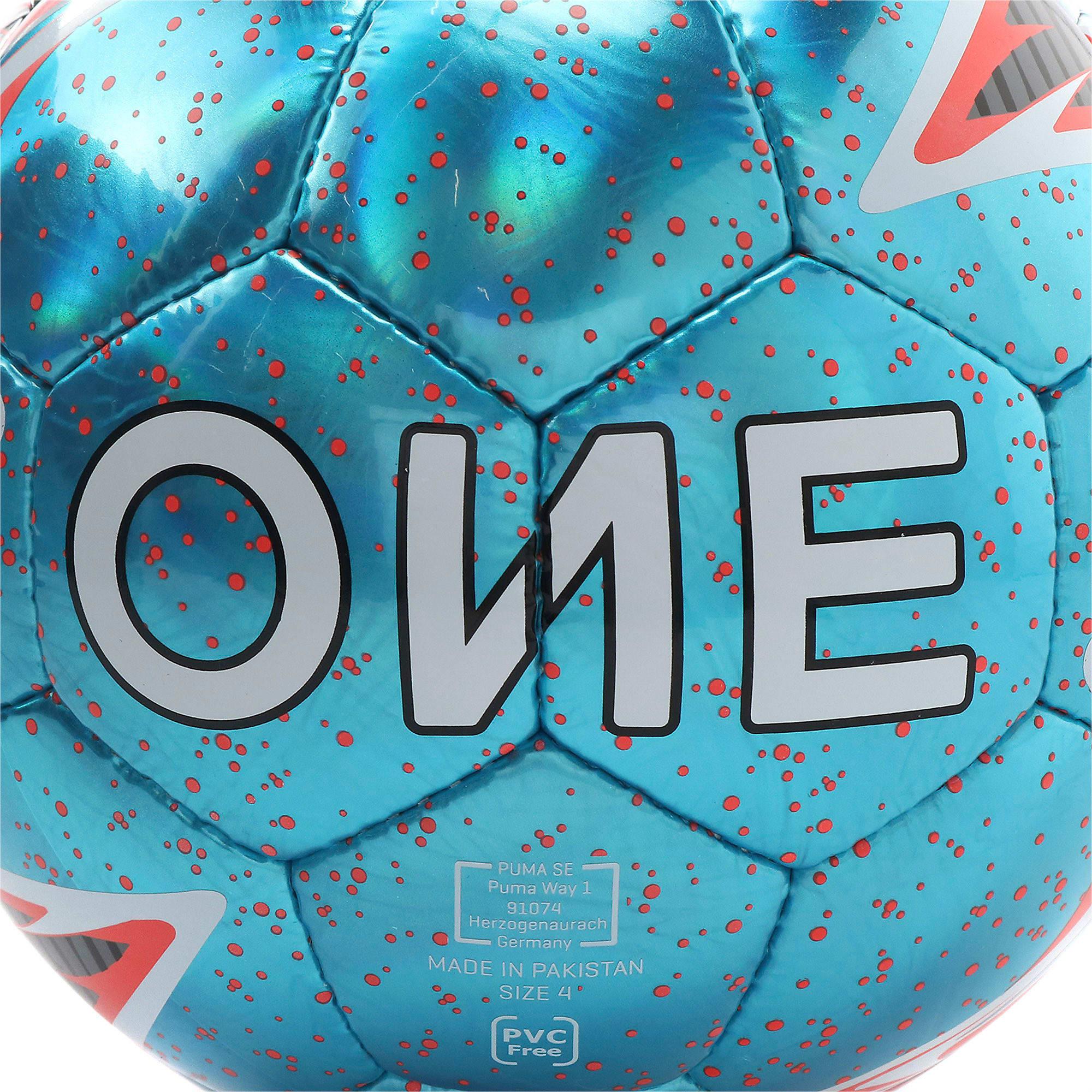 Thumbnail 5 of プーマ ワン レーザー サッカー ボール J, Bleu Azur-Red Blast-White, medium-JPN