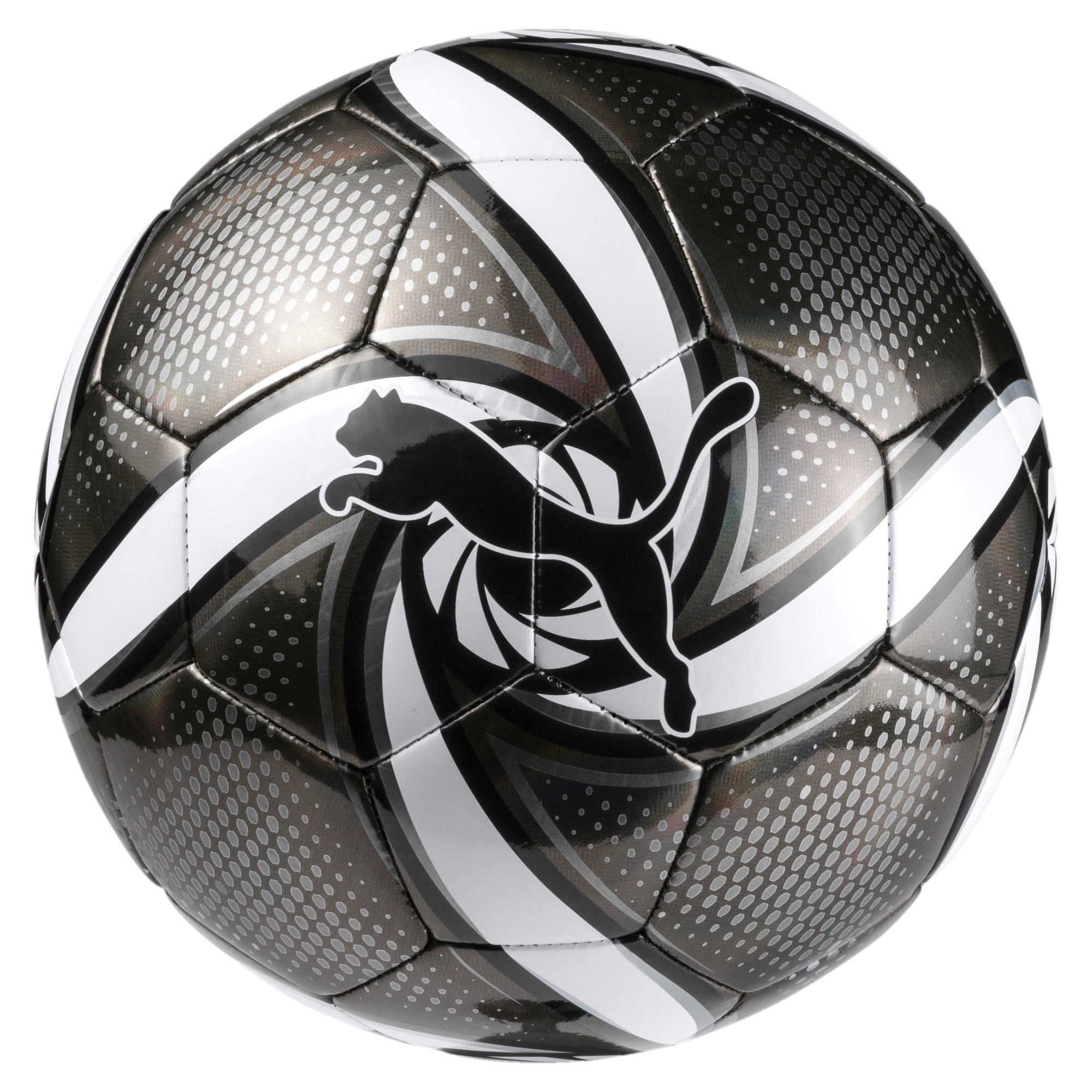 Thumbnail 1 of FUTURE Flare Ball, Puma Black-Puma White-Silver, medium