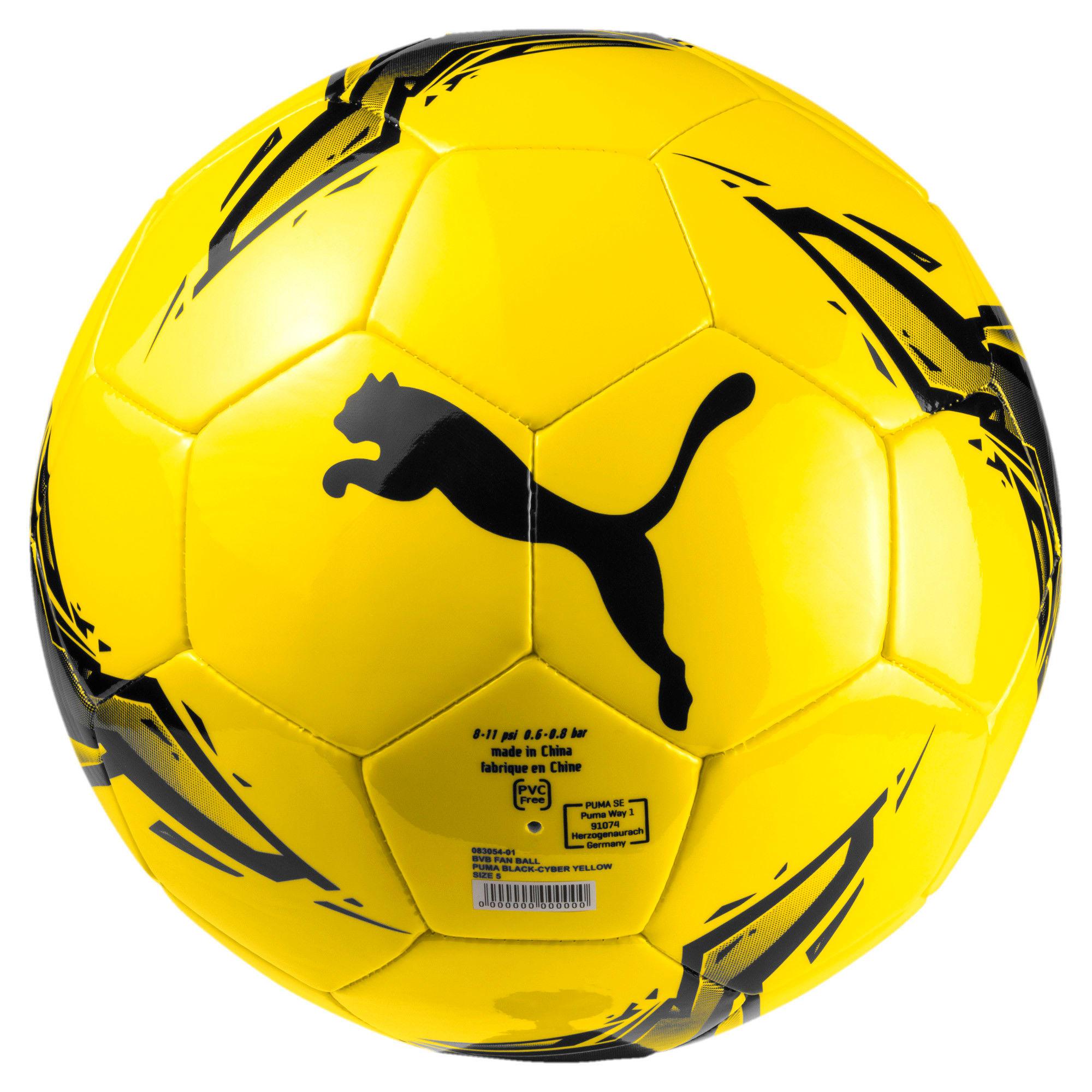 Miniatura 1 de Pelota BVB para fanáticos, Puma Black-Cyber Yellow, mediano