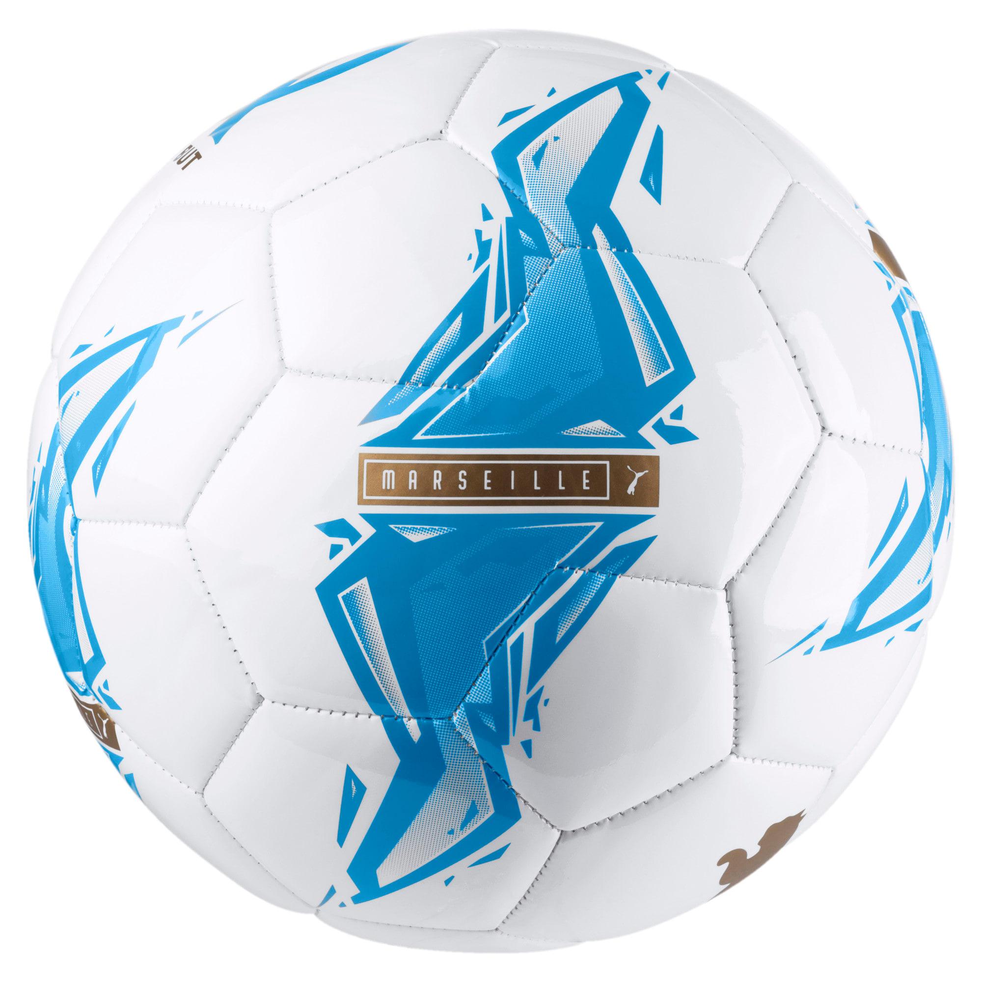 Thumbnail 2 of Olympique de Marseille Fan Ball, Bleu Azur-Puma White, medium