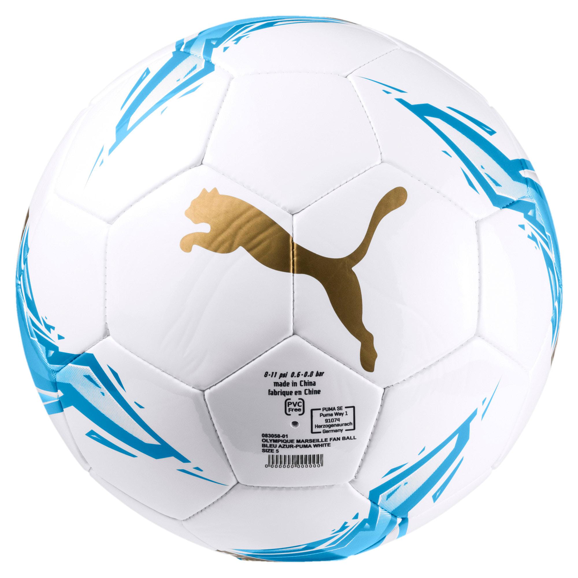 Thumbnail 1 of Olympique de Marseille Fan Ball, Bleu Azur-Puma White, medium