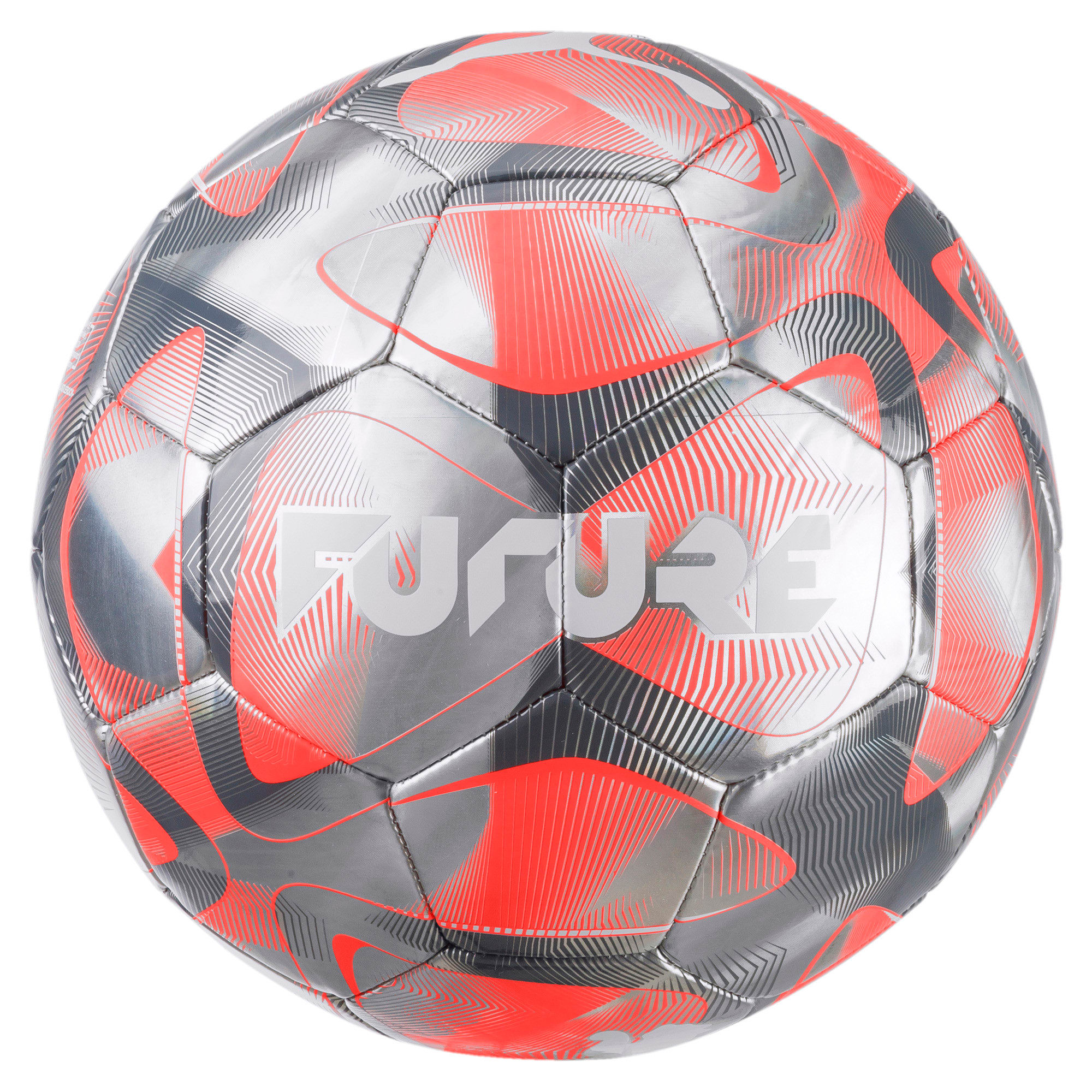 Thumbnail 1 of FUTURE Flash Soccer Ball, Grey-Nrgy Red-CASTLE-White, medium