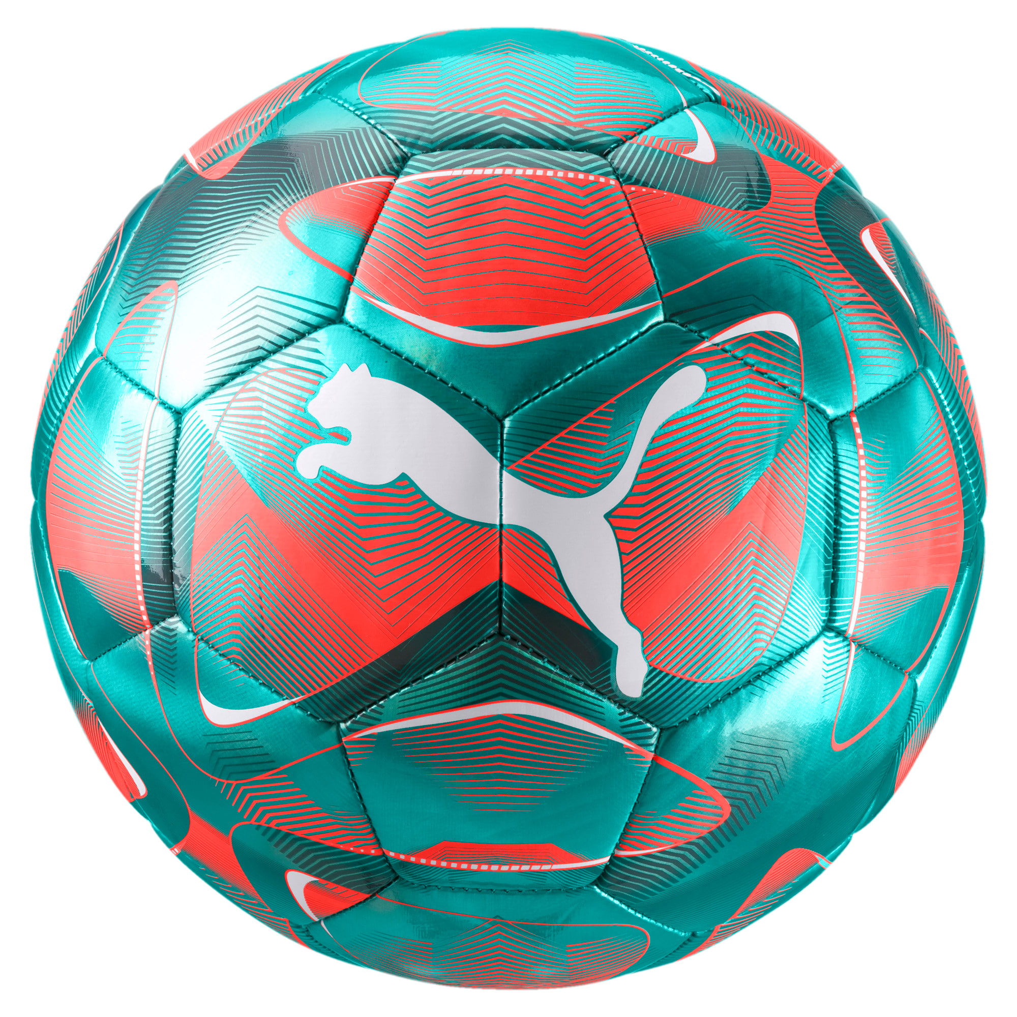 Thumbnail 1 of FUTURE Flash Soccer Ball, Turquoise-Nrgy Red-White, medium