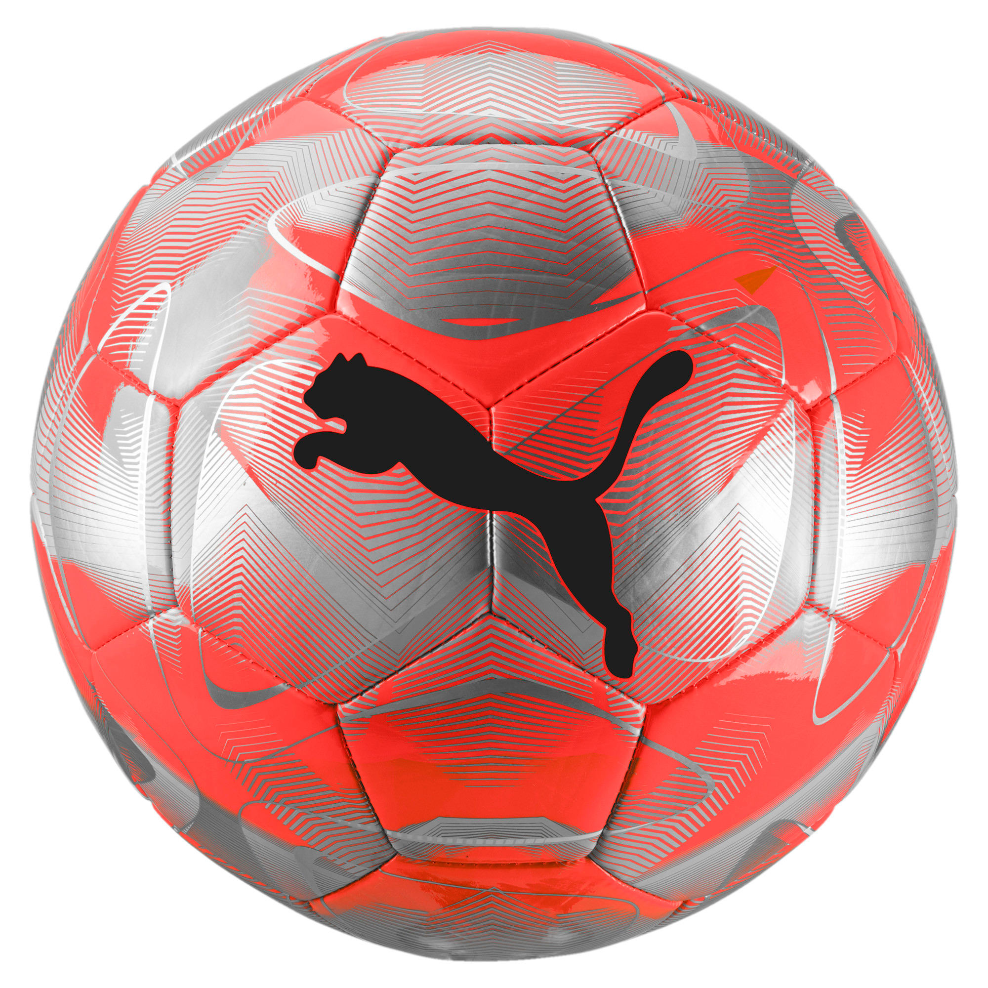 FUTURE Flash Soccer Ball, Nrgy Red-Silver-Grey-Black, large