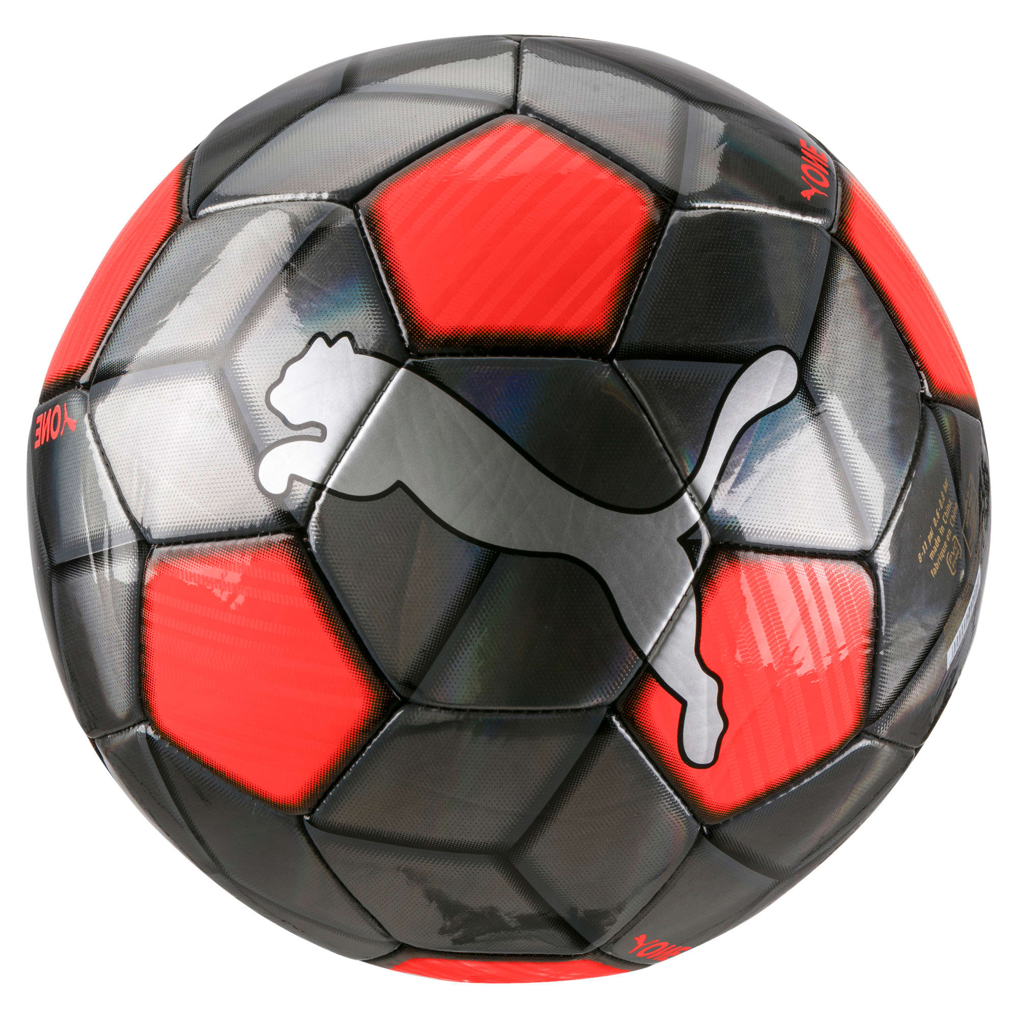 Thumbnail 1 of PUMA One Strap Football, Silver-Nrgy Red-Puma Black, medium