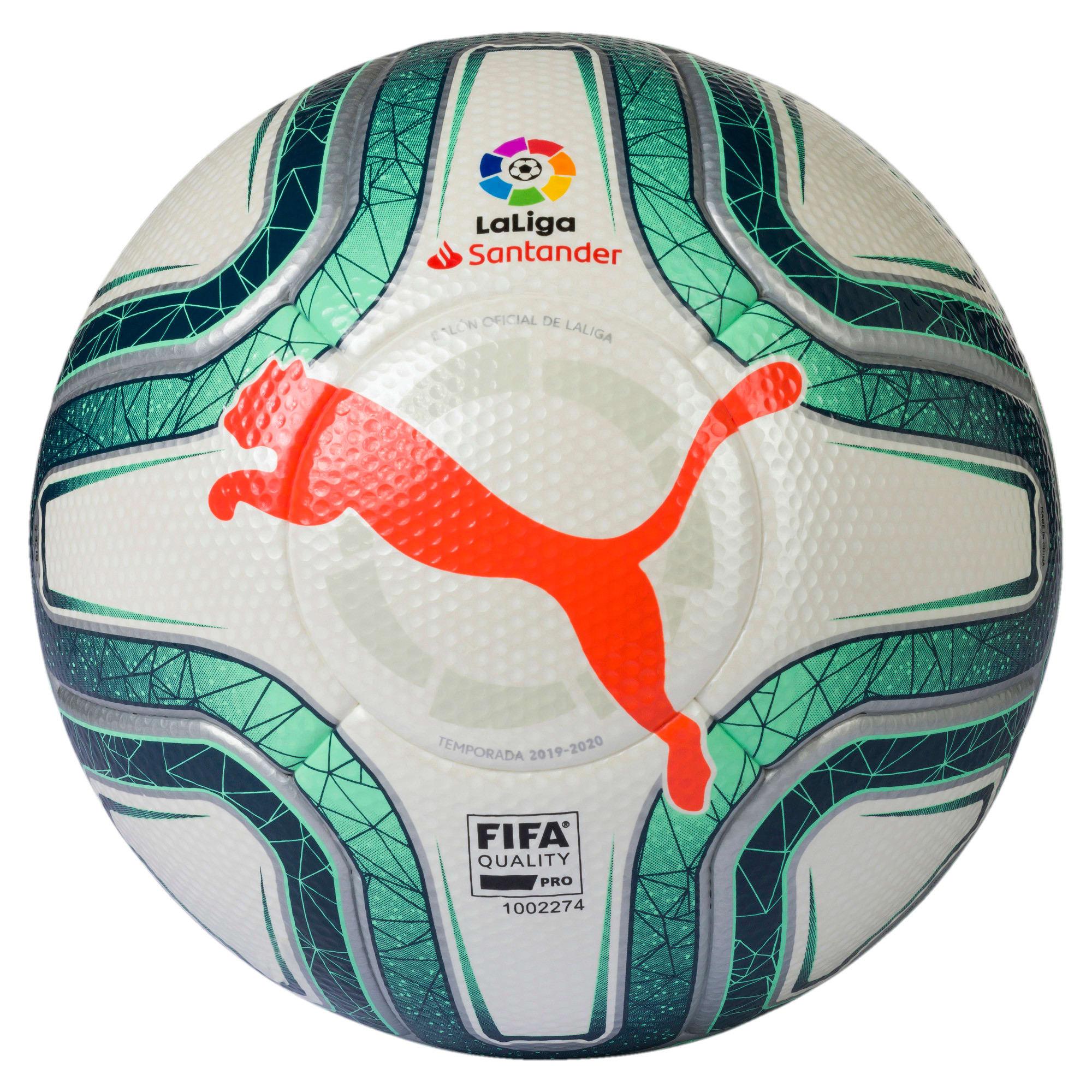 Miniatura 1 de Pelota de fútbol La Liga1 FIFA Quality Pro, Puma White-Green-Nrgy Red, mediano