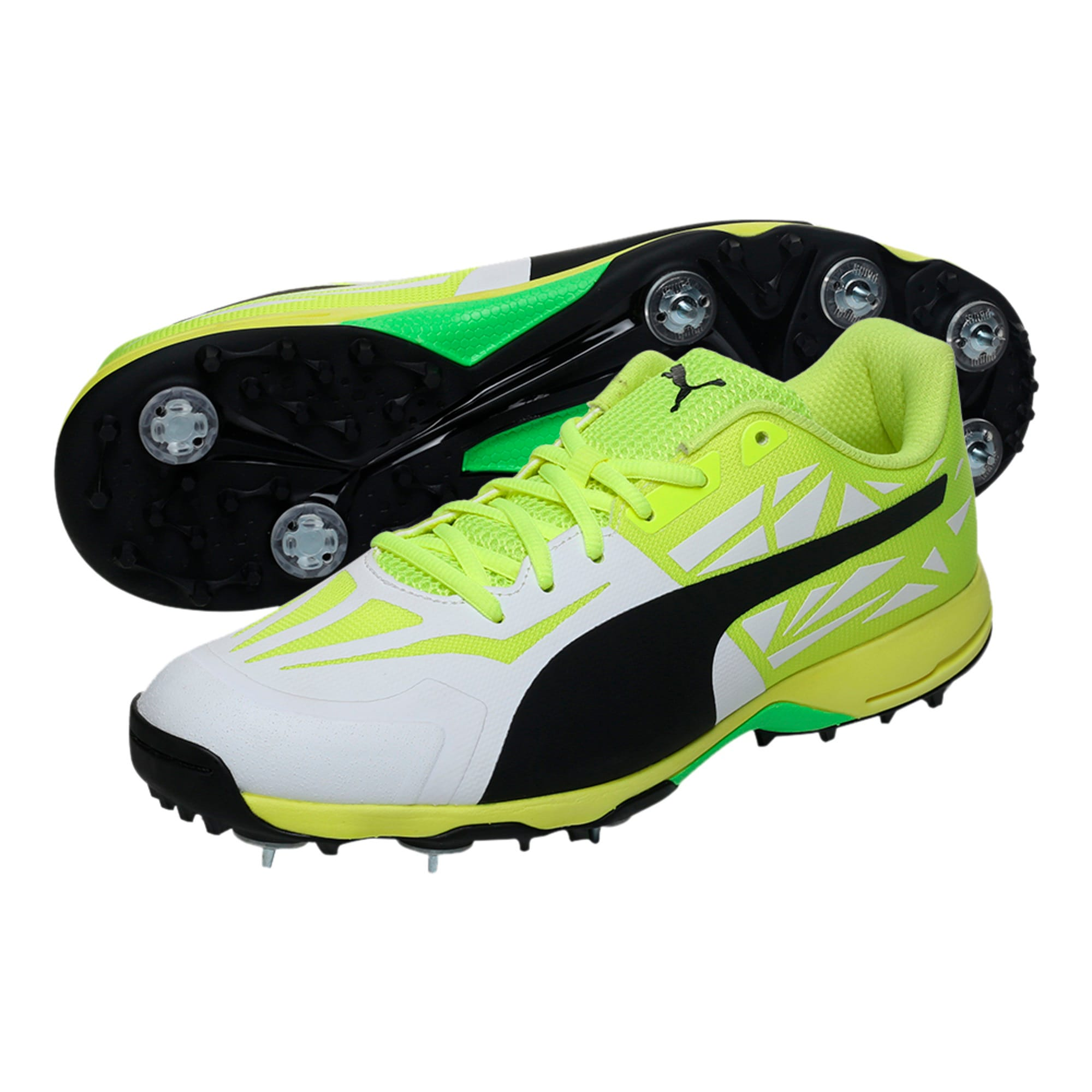 Thumbnail 6 of evoSPEED Spike 1.5 Men's Cricket Boots, white-black-yellow, medium-IND