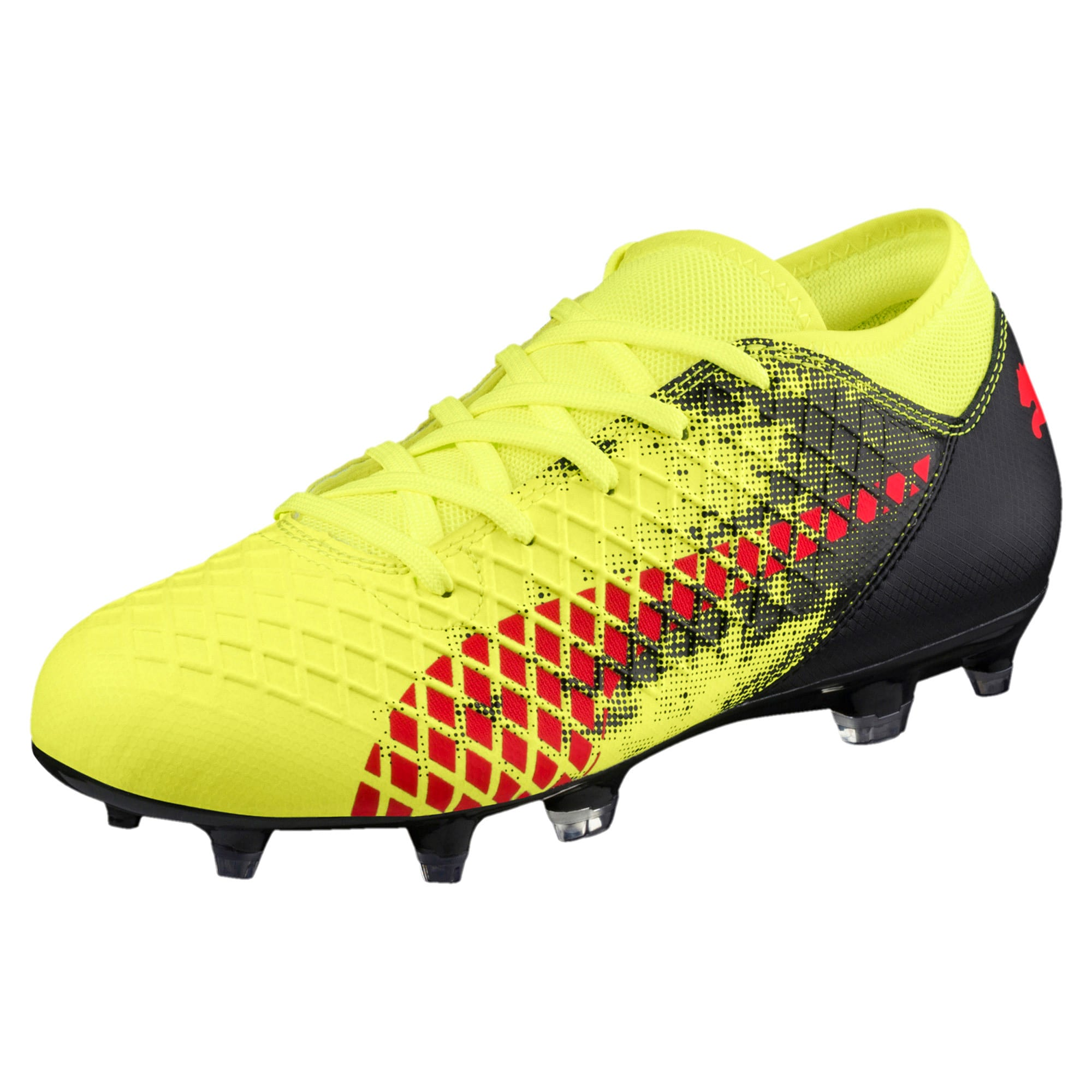 Thumbnail 1 of FUTURE 18.4 FG/AG Soccer Cleats JR, Yellow-Red-Black, medium