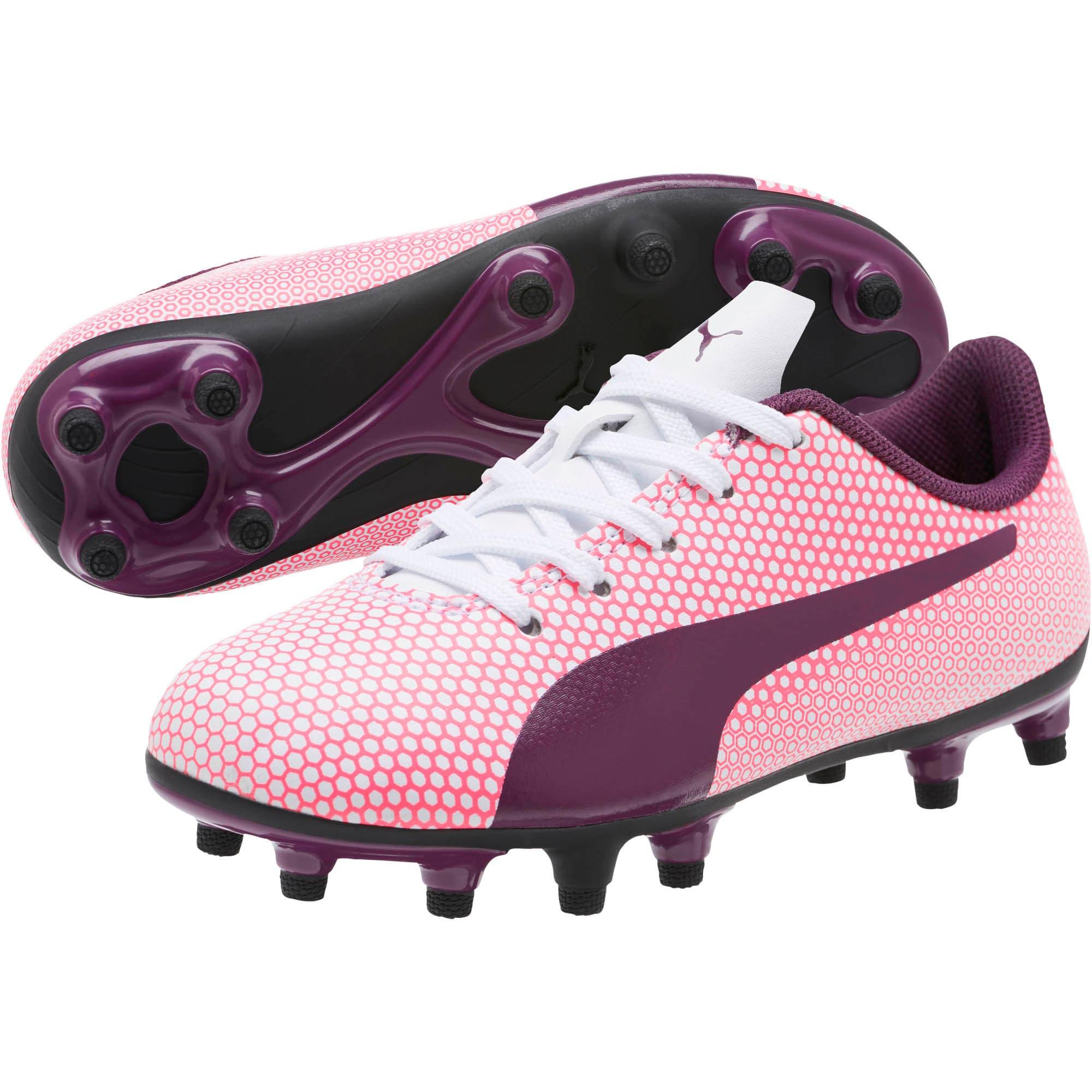 Thumbnail 2 of Spirit FG Soccer Cleats JR, White-Purple-Pink, medium