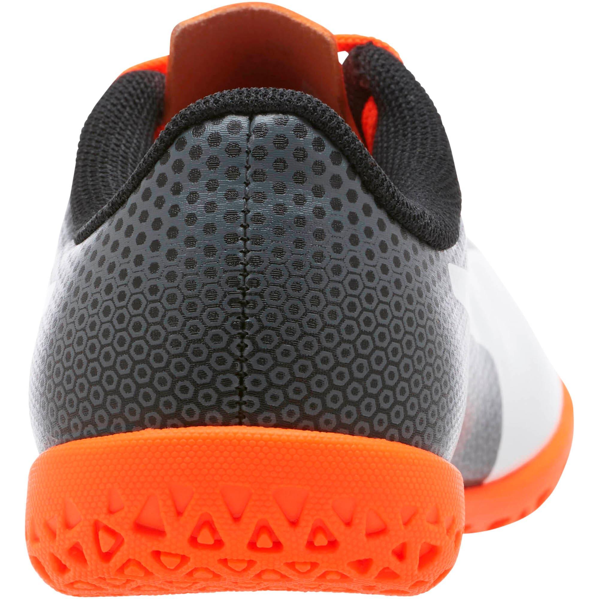 Thumbnail 4 of PUMA Spirit IT Soccer Shoes JR, Black-White-Orange, medium