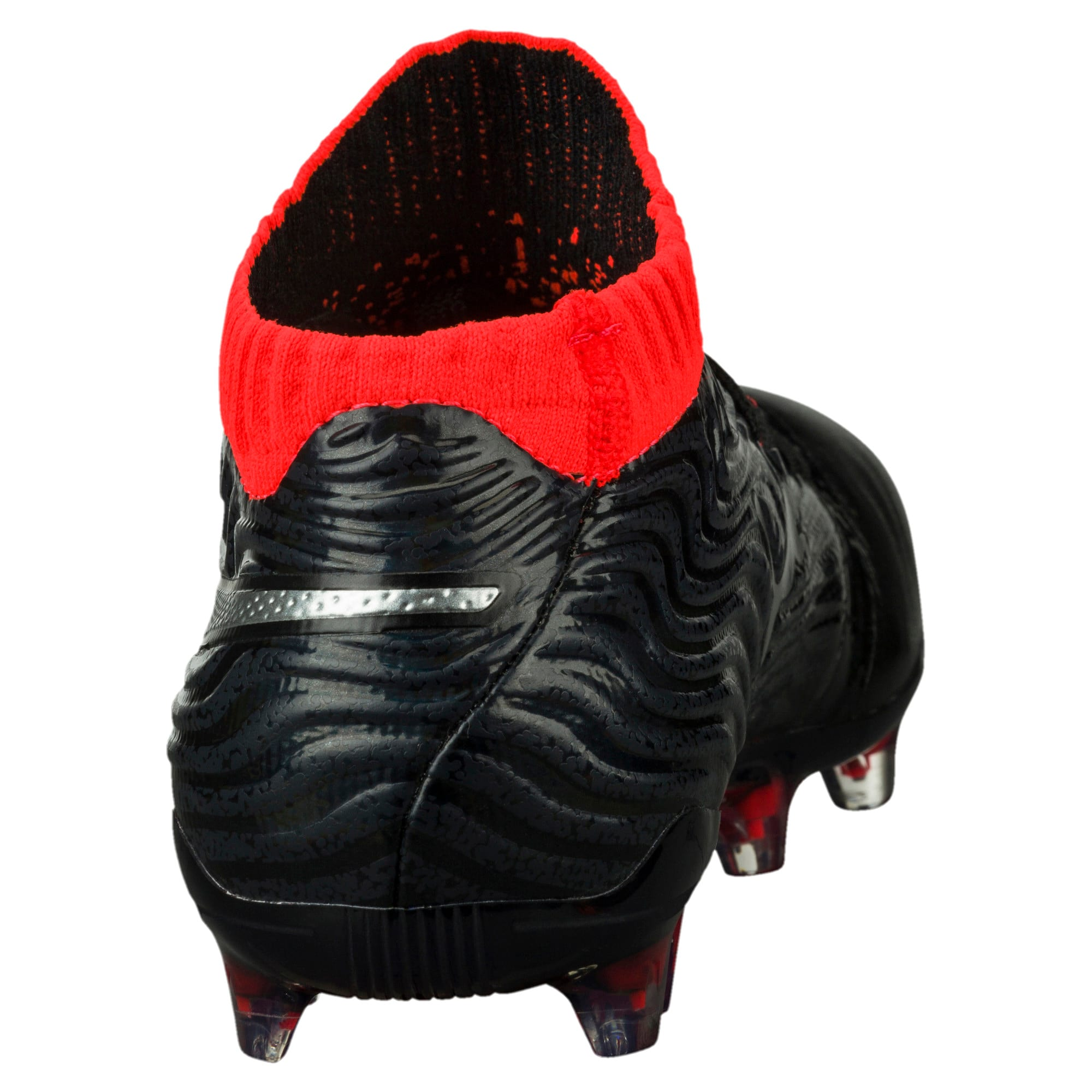 Thumbnail 4 of ONE 18.1 FG Soccer Cleats JR, Black-Silver-Red, medium