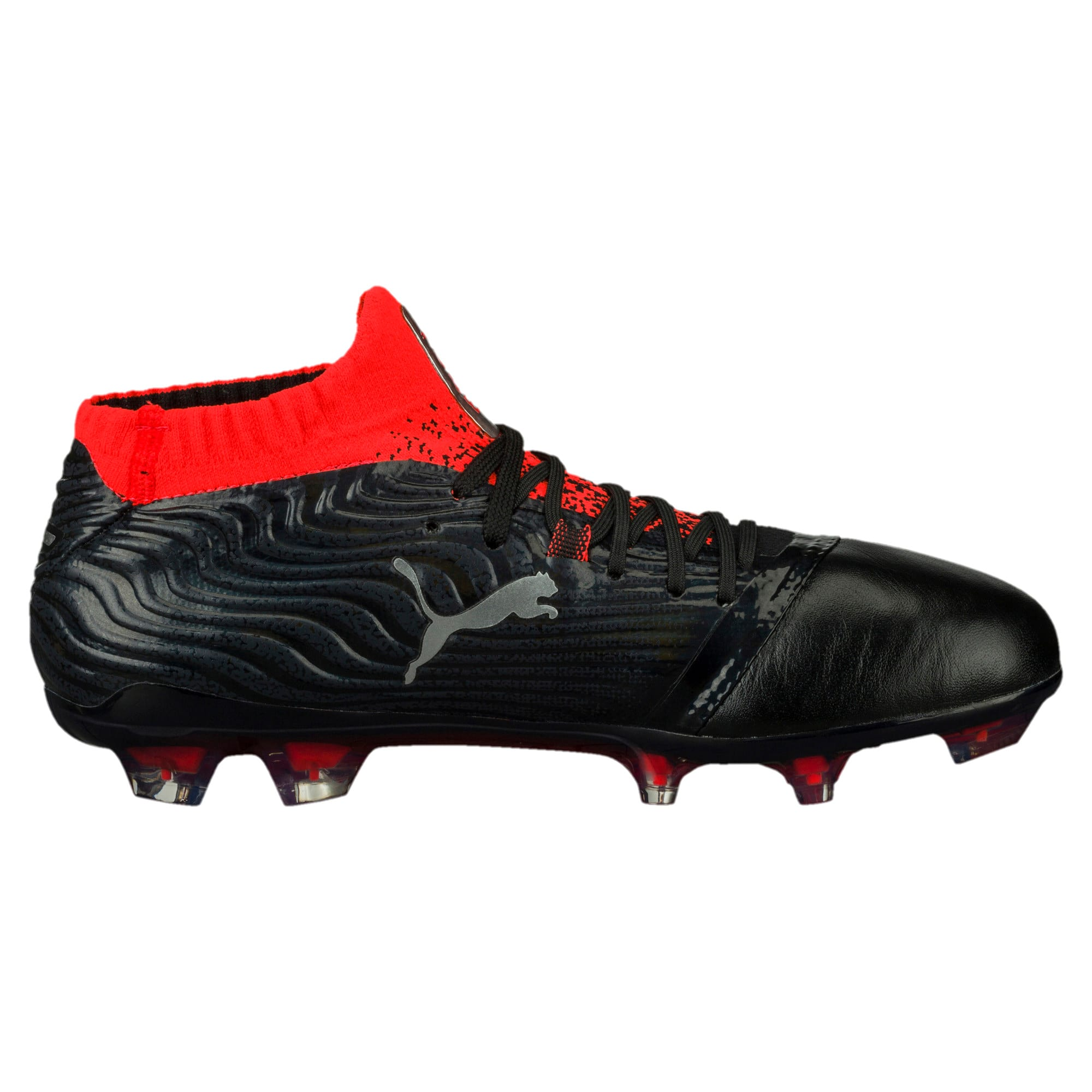 Thumbnail 3 of ONE 18.1 FG Soccer Cleats JR, Black-Silver-Red, medium