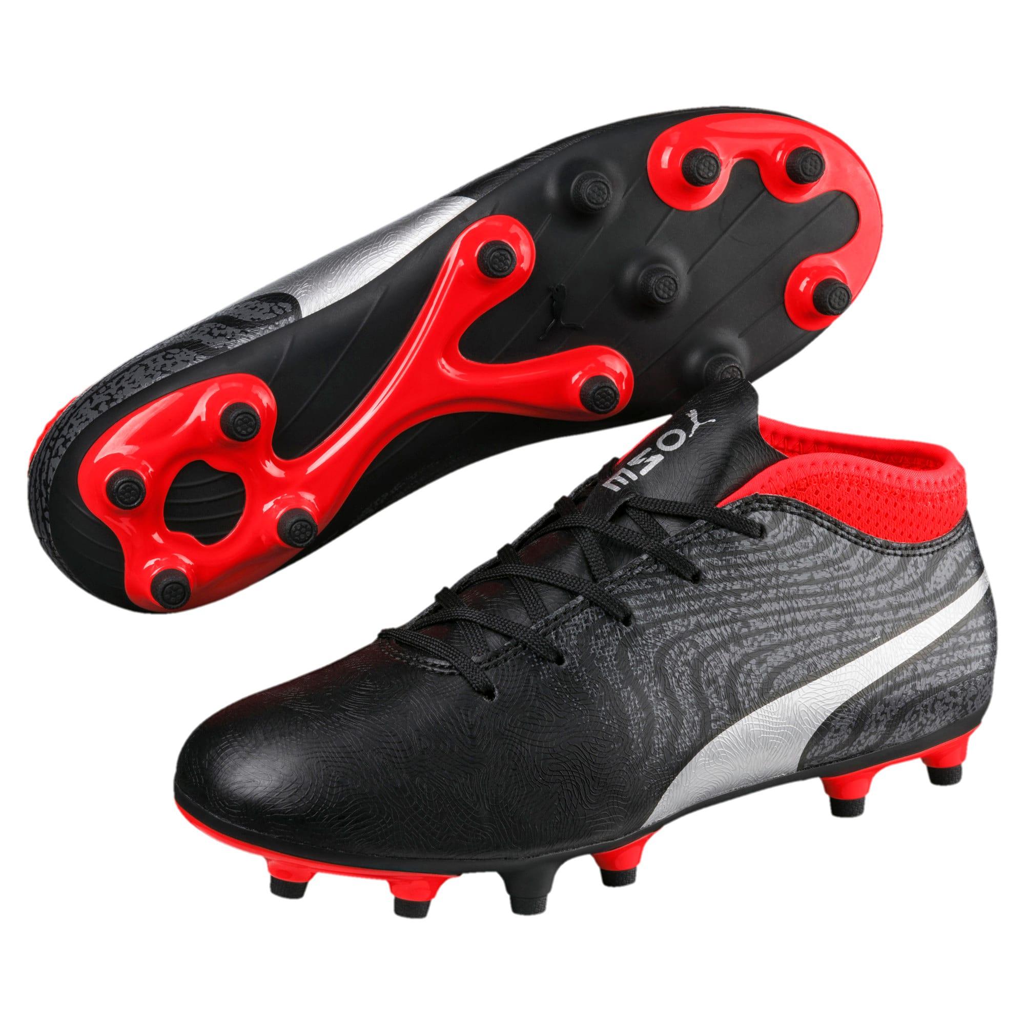 Thumbnail 2 of ONE 18.4 FG Soccer Cleats JR, Black-Silver-Red, medium