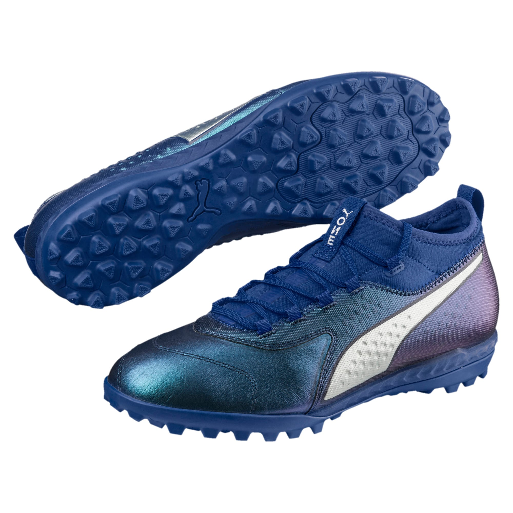 Thumbnail 2 of PUMA ONE 3 TT Men's Soccer Shoes, Sodalite Blue-Silver-Peacoat, medium
