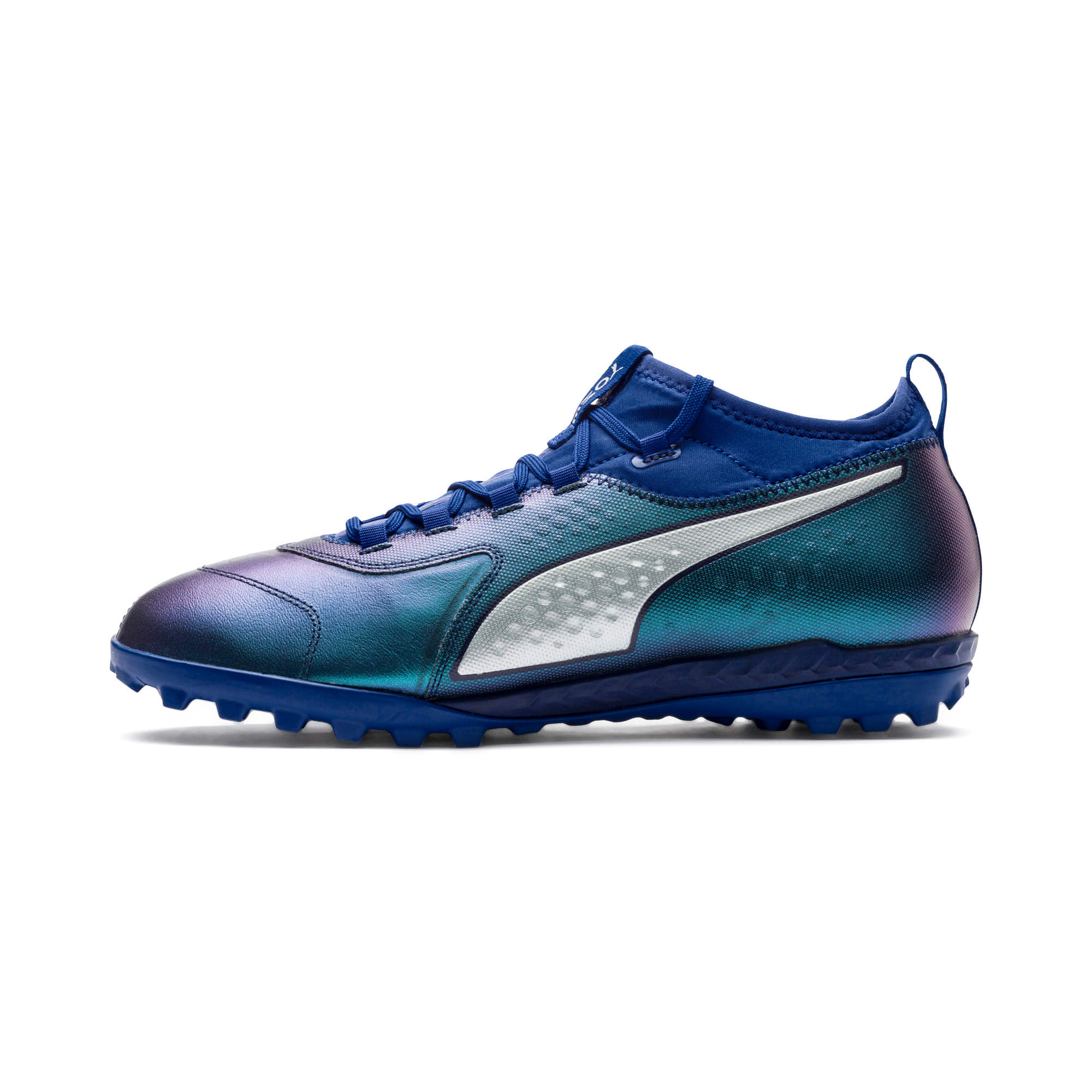 Thumbnail 1 of PUMA ONE 3 TT Men's Soccer Shoes, Sodalite Blue-Silver-Peacoat, medium