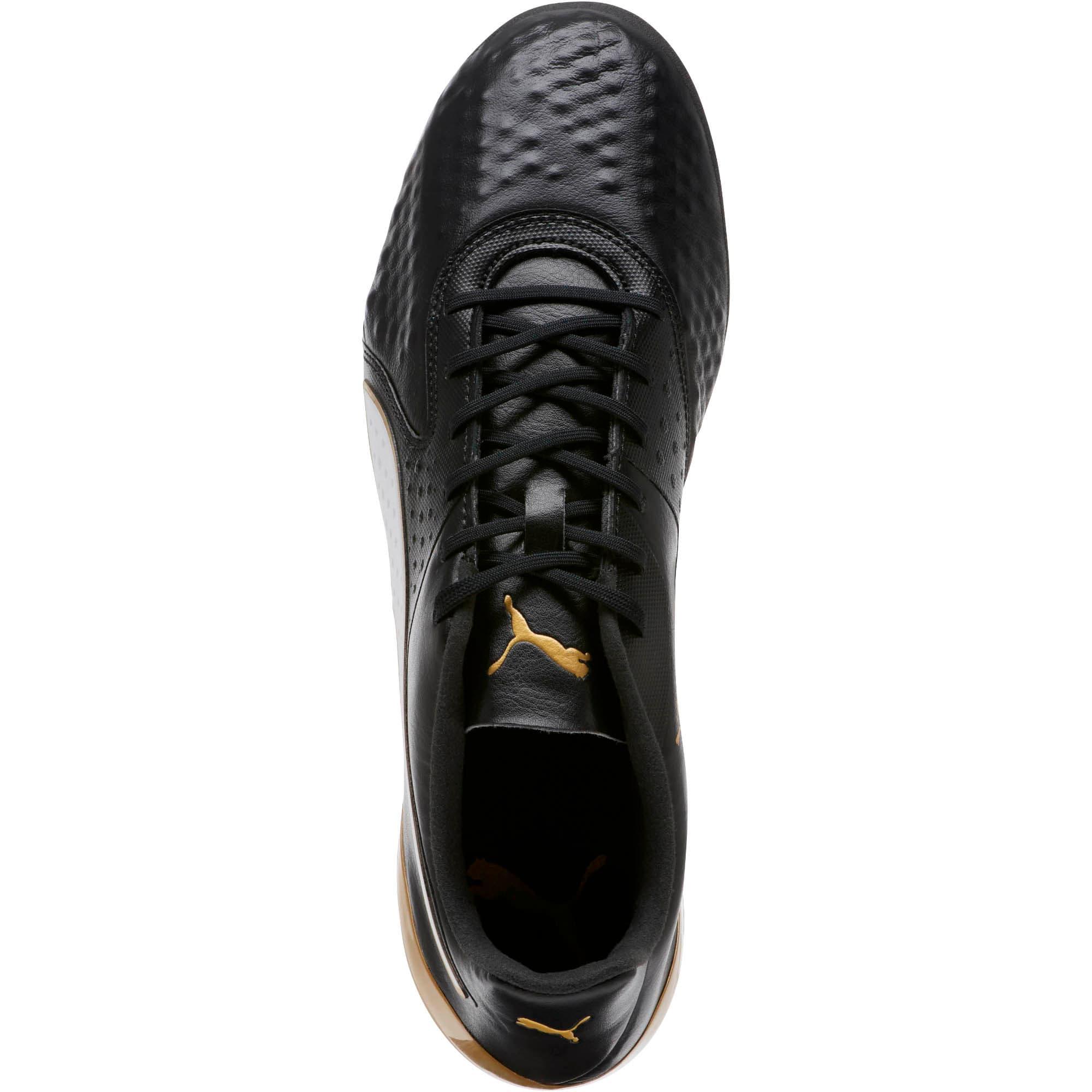 Thumbnail 5 of PUMA ONE 19.1 FG/AG Soccer Cleats, Black-White-Gold, medium