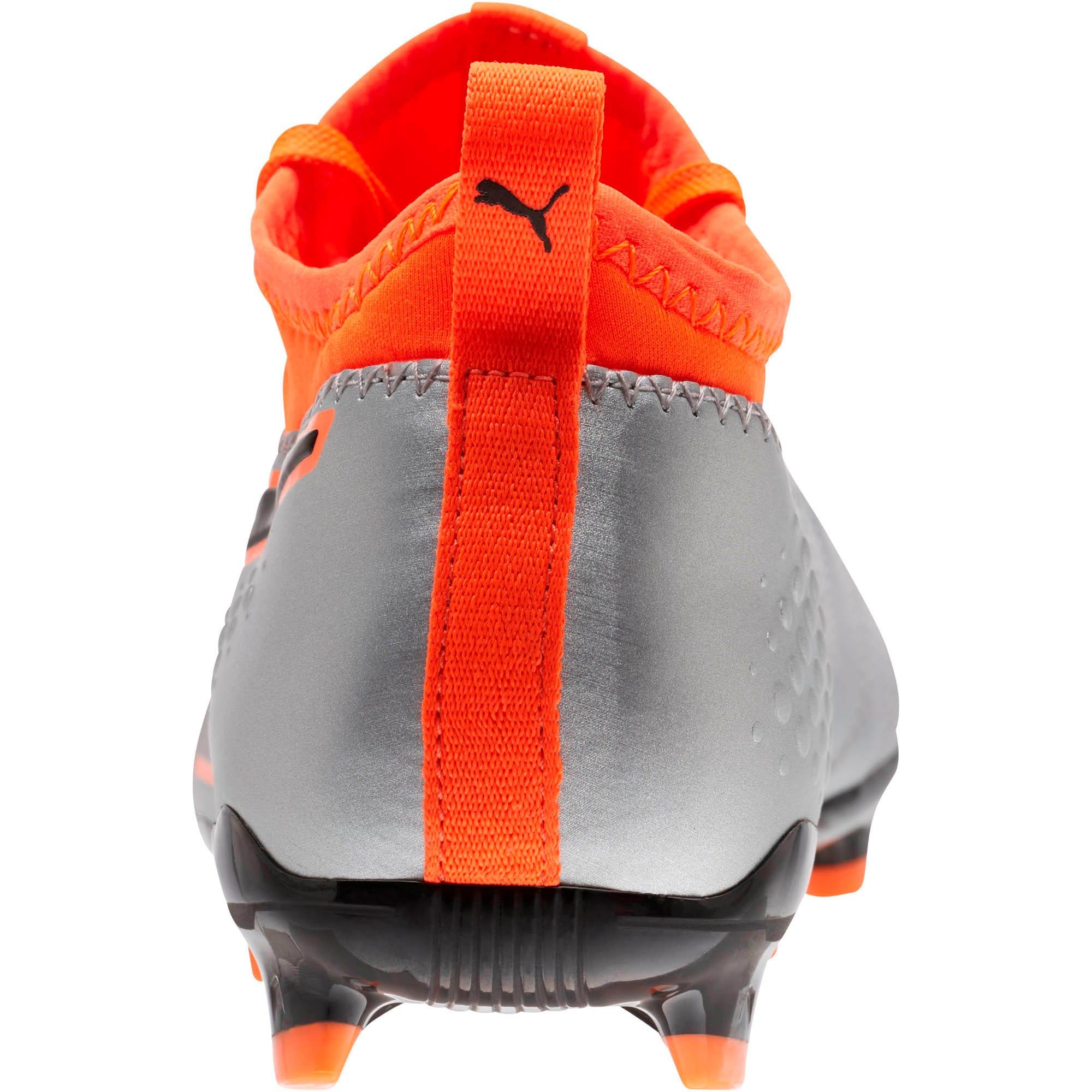 Thumbnail 4 of PUMA ONE 3 FG Soccer Cleats JR, Silver-Orange-Black, medium