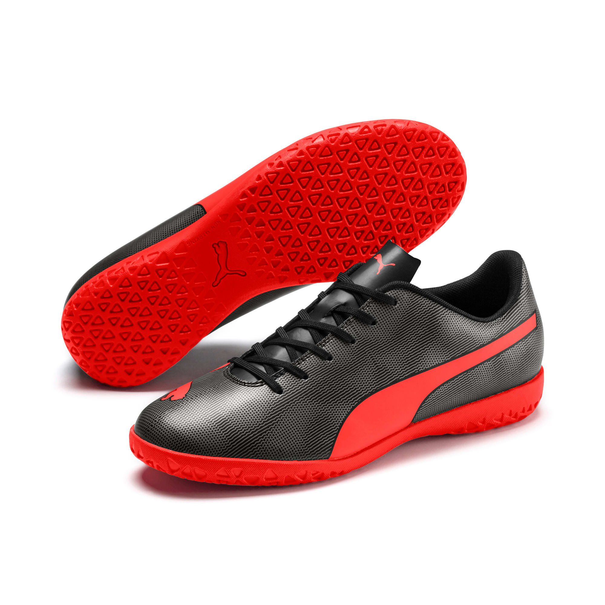 Thumbnail 2 of Rapido IT Men's Soccer Shoes, Black-Nrgy Red-Aged Silver, medium
