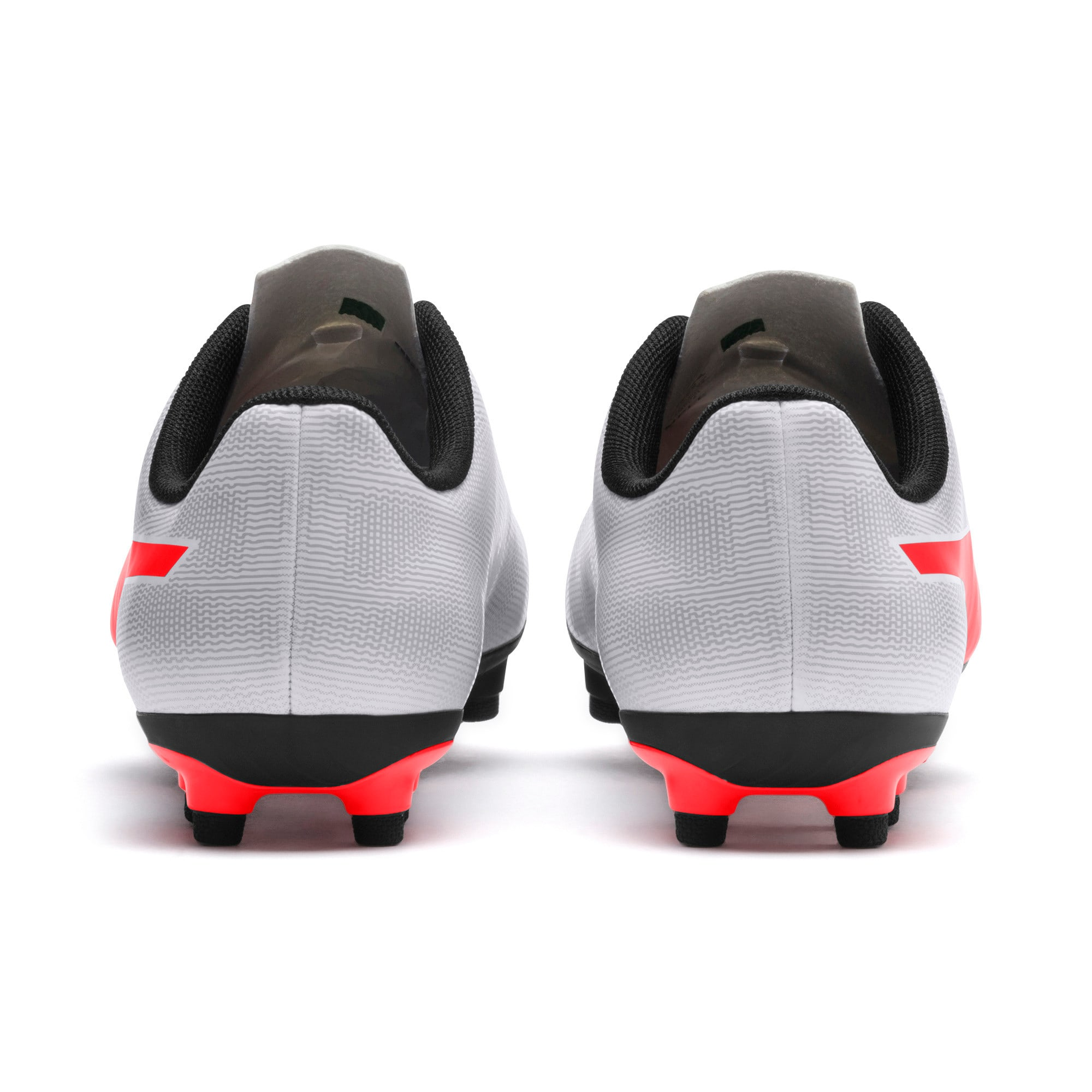 Thumbnail 2 of Rapido FG Youth Football Boots, White-Gray-Black-Red Blast, medium-IND