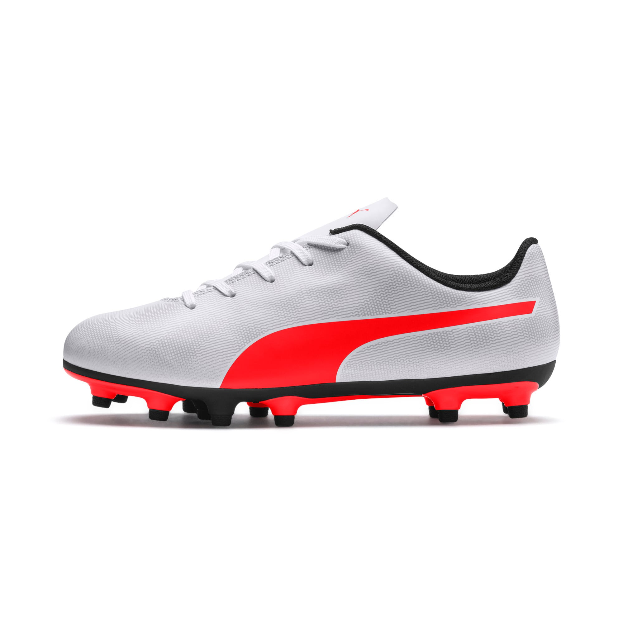 Thumbnail 1 of Rapido FG Youth Football Boots, White-Gray-Black-Red Blast, medium-IND