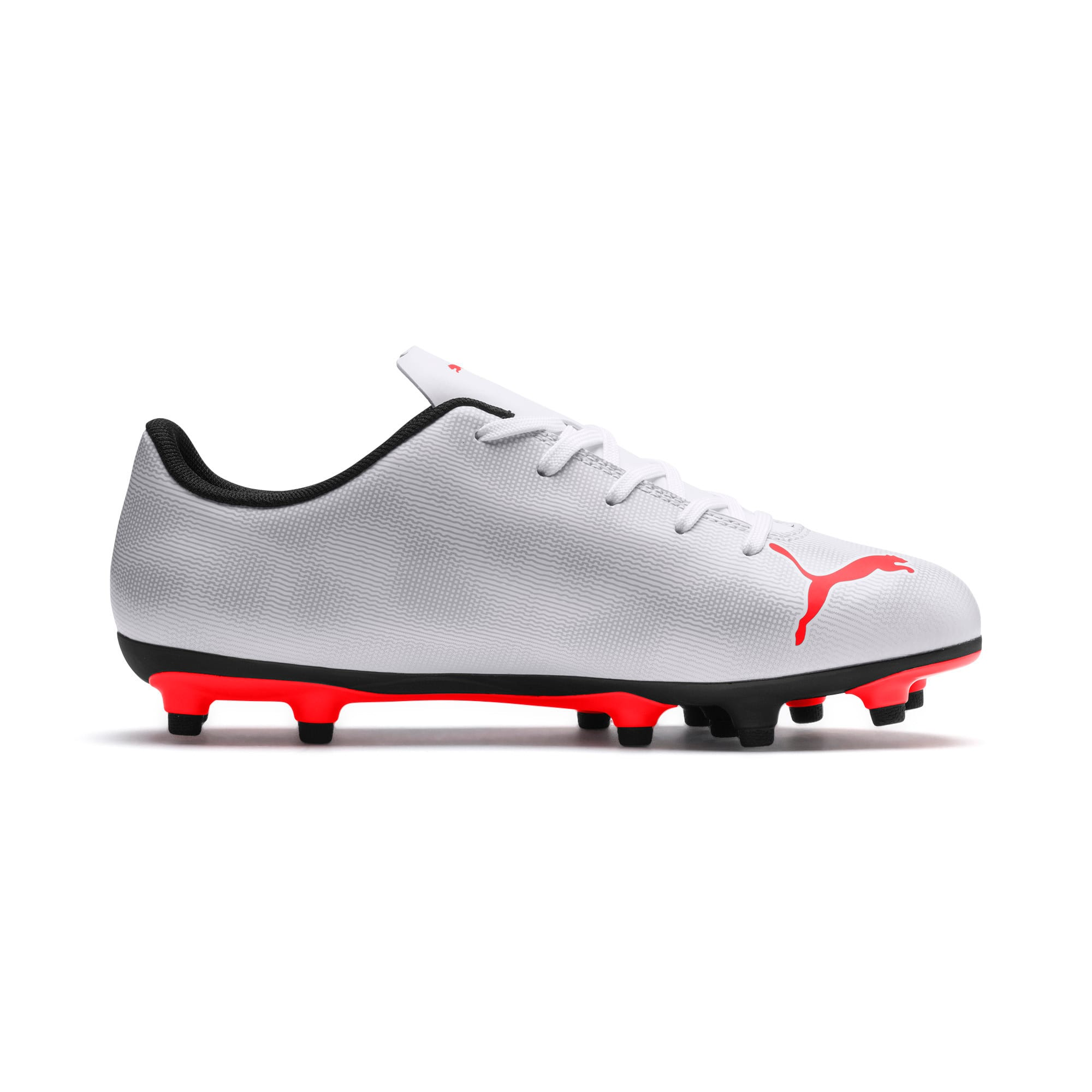 Thumbnail 5 of Rapido FG Youth Football Boots, White-Gray-Black-Red Blast, medium-IND