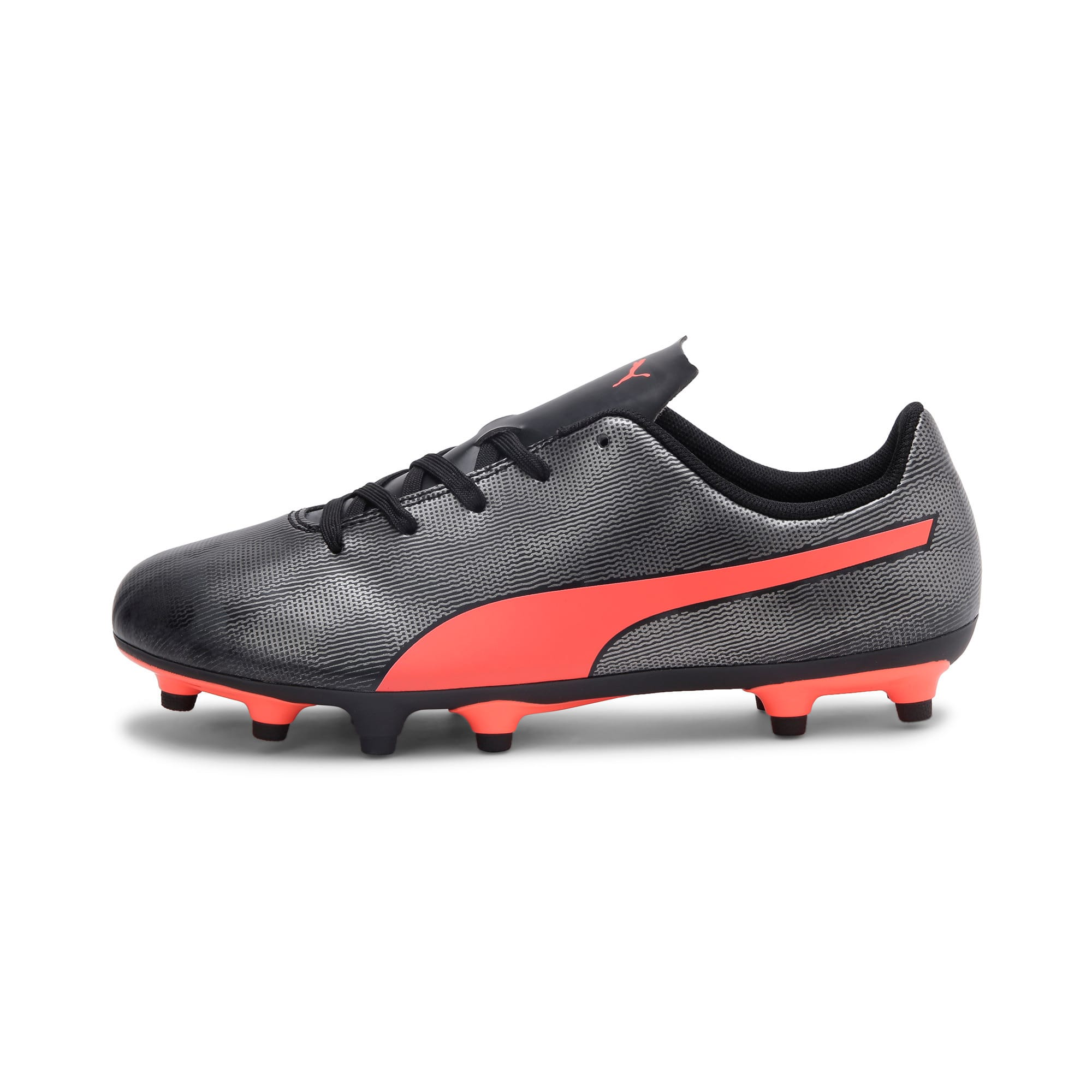 Thumbnail 1 of Rapido FG Youth Football Boots, Black-Nrgy Red-Aged Silver, medium-IND