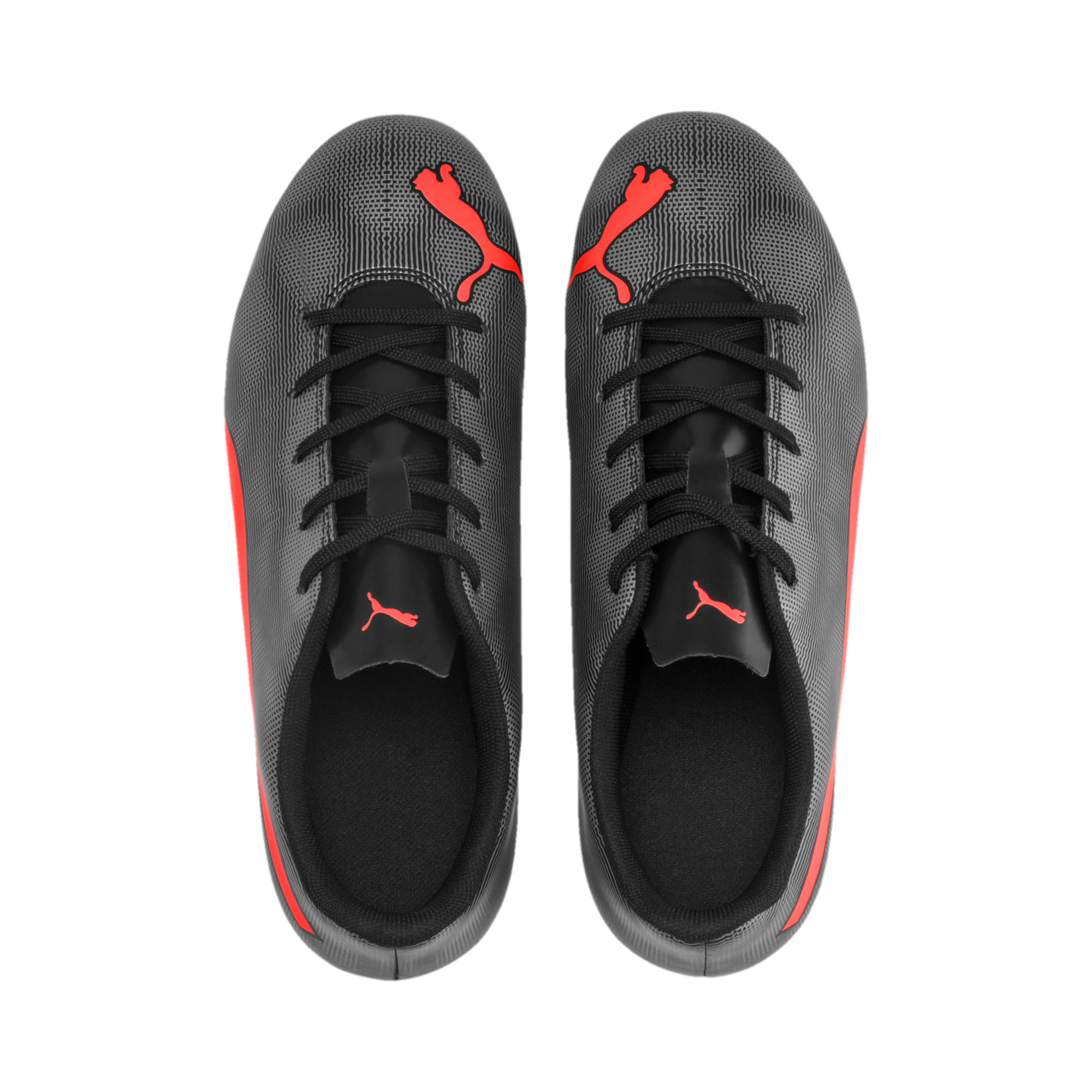 Thumbnail 6 of Rapido FG Youth Football Boots, Black-Nrgy Red-Aged Silver, medium-IND