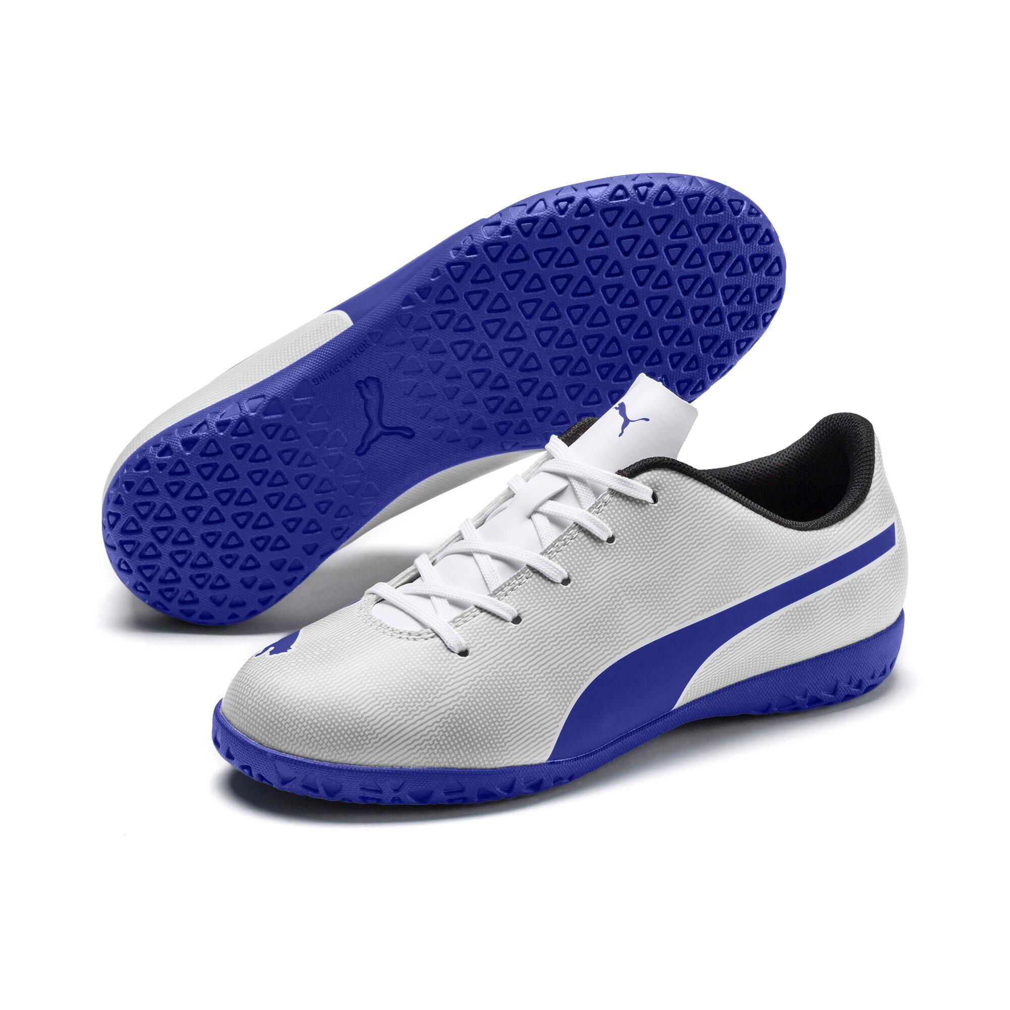 Thumbnail 2 of Rapido IT Boy's Soccer Shoes JR, White-Royal Blue-Light Gray, medium