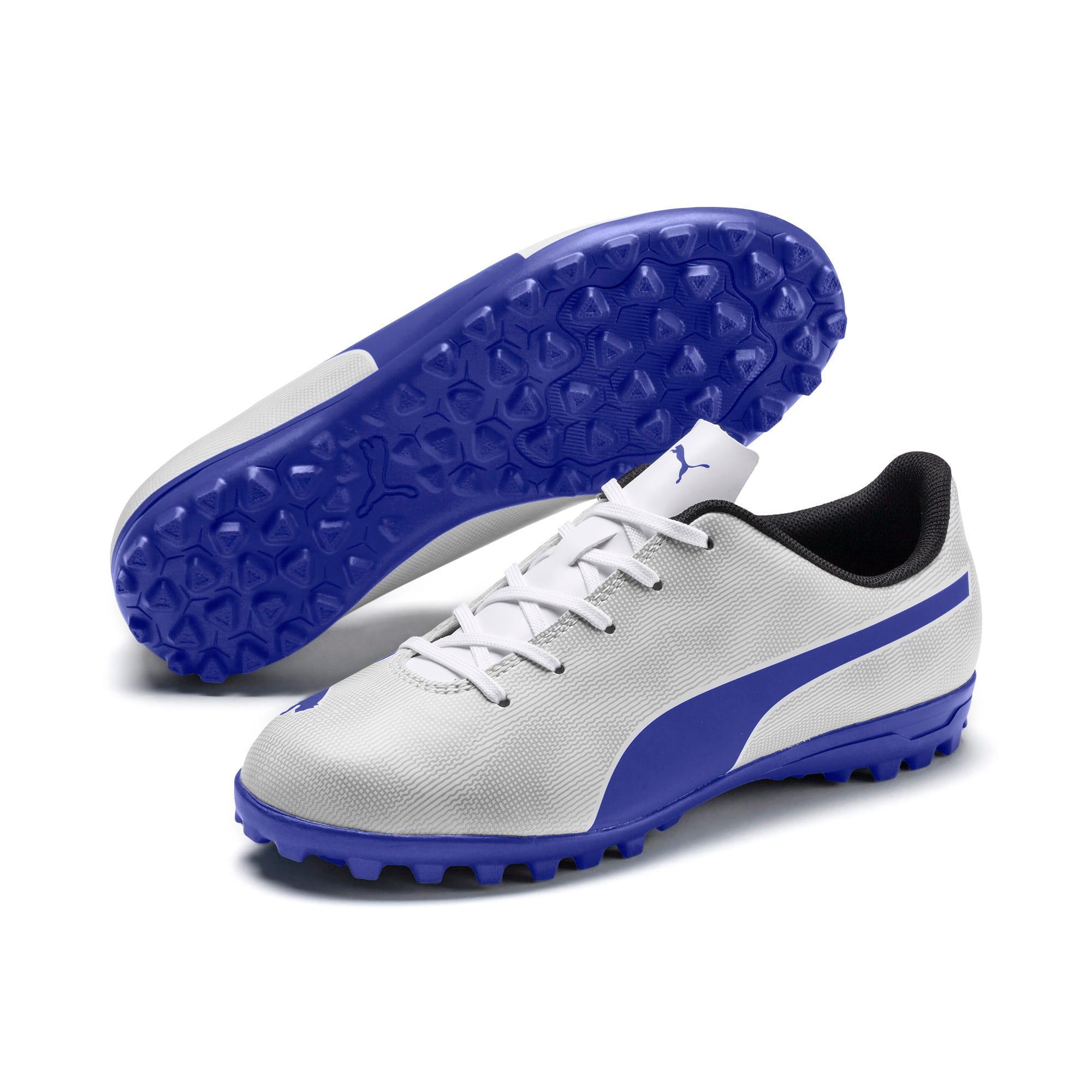 Thumbnail 2 of Rapido TT Boy's Soccer Cleats JR, White-Royal Blue-Light Gray, medium