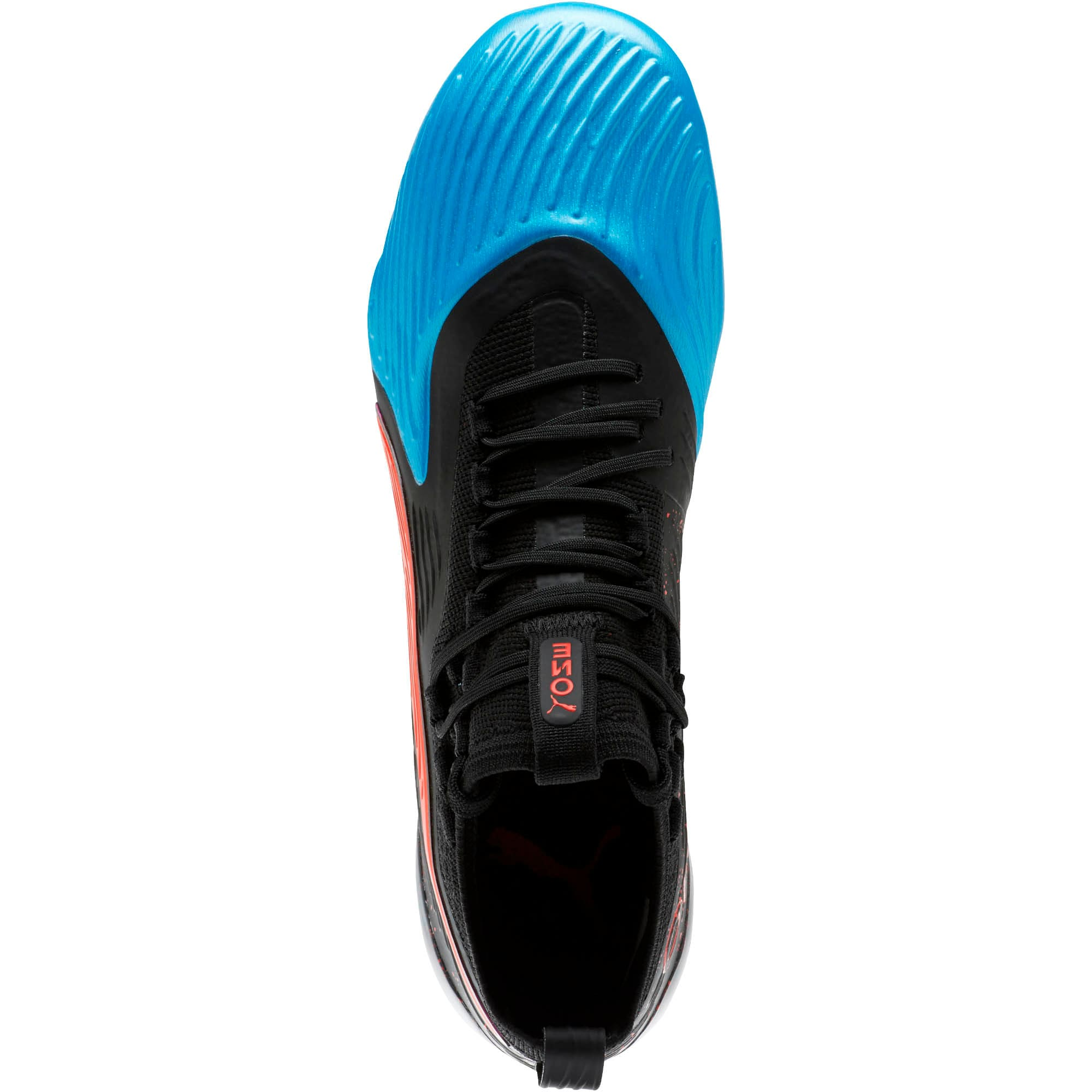Thumbnail 5 of PUMA ONE 19.1 FG/AG Men's Soccer Cleats, Bleu Azur-Red Blast-Black, medium