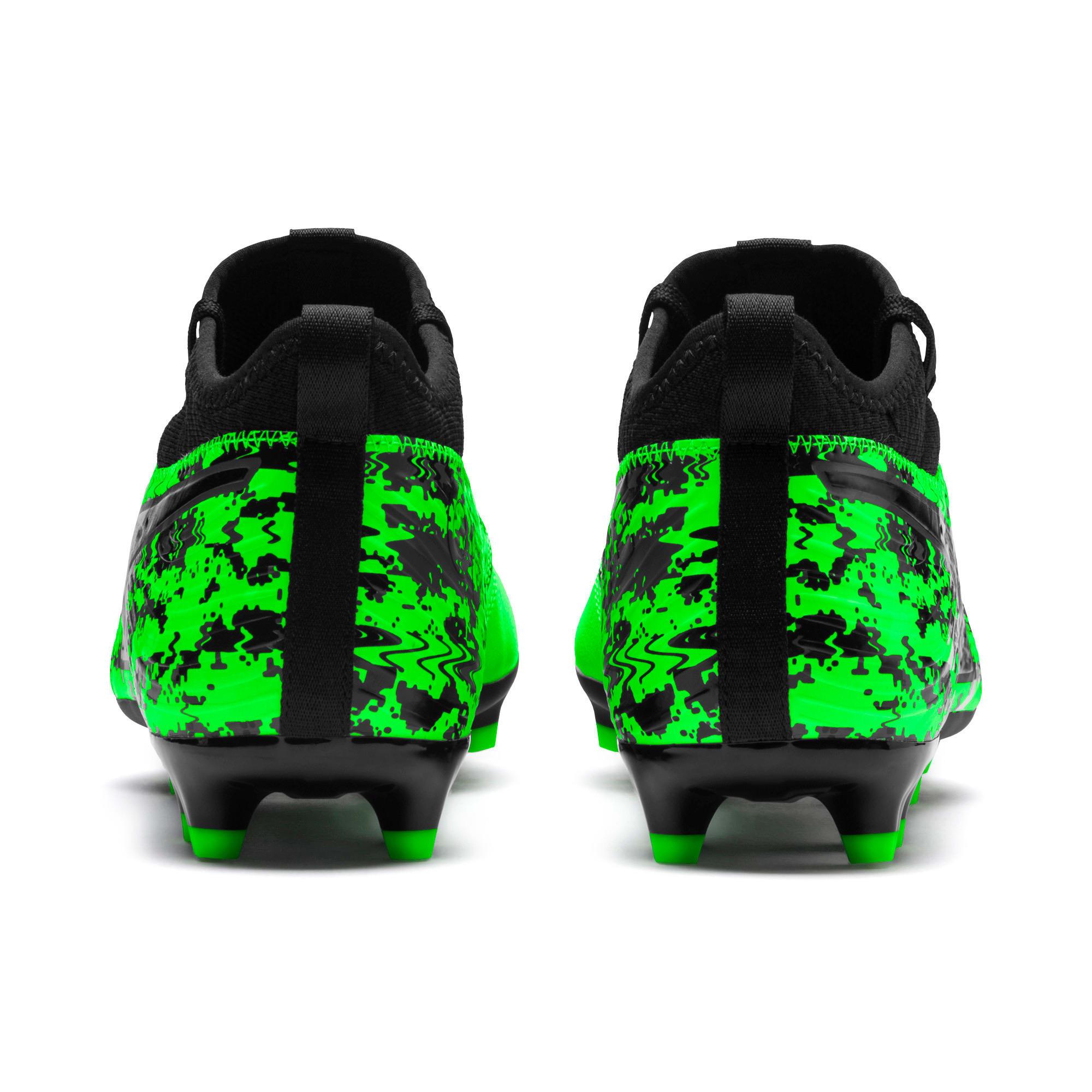 Thumbnail 3 of PUMA ONE 19.3 FG/AG Men's Soccer Cleats, Green Gecko-Black-Gray, medium
