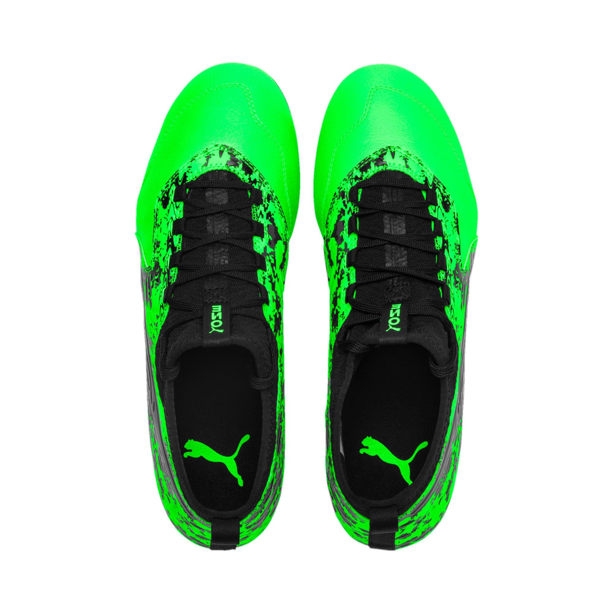 Thumbnail 6 of PUMA ONE 19.3 FG/AG Men's Soccer Cleats, Green Gecko-Black-Gray, medium