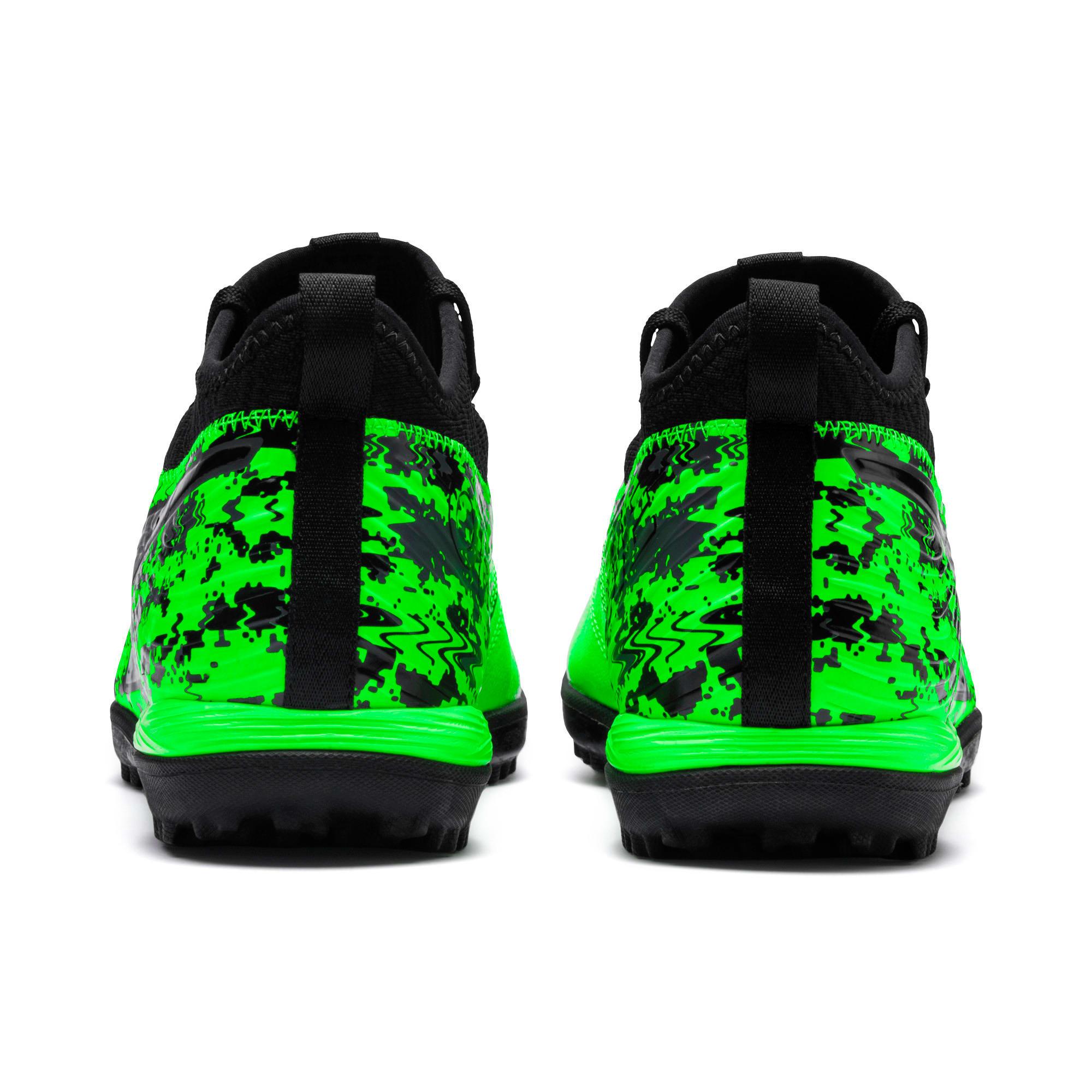Miniatura 3 de Zapatos de fútbol PUMA ONE 19.3 TT para hombre, Green Gecko-Black-Gray, mediano