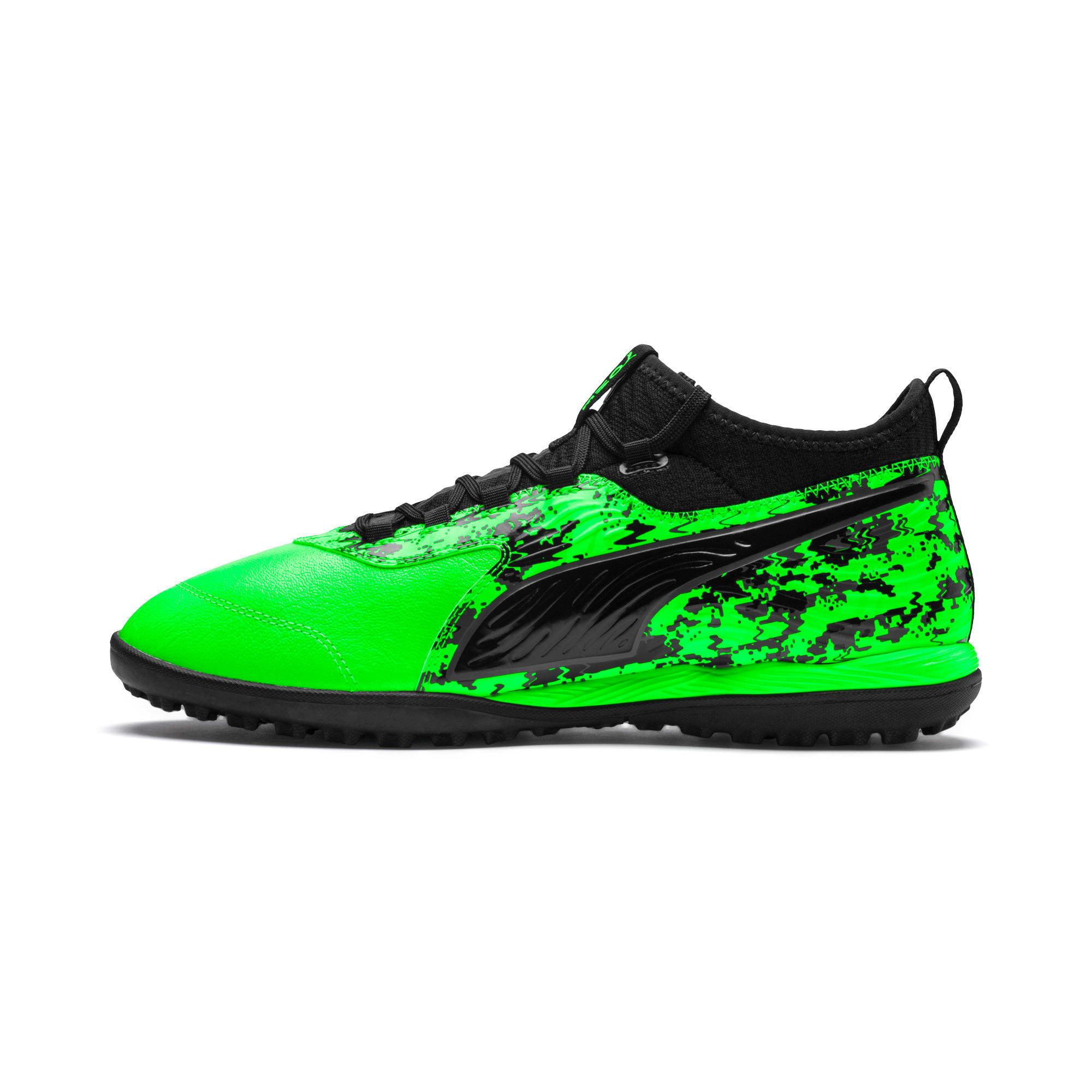 Miniatura 1 de Zapatos de fútbol PUMA ONE 19.3 TT para hombre, Green Gecko-Black-Gray, mediano