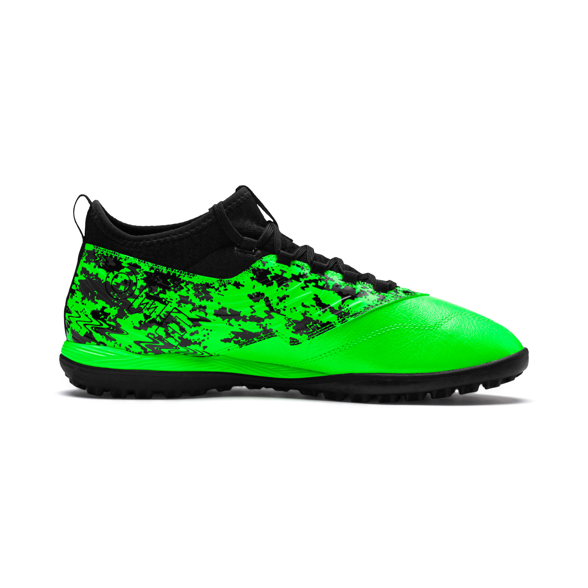 PUMA ONE 19.3 TT Men's Soccer Shoes, Green Gecko-Black-Gray, large