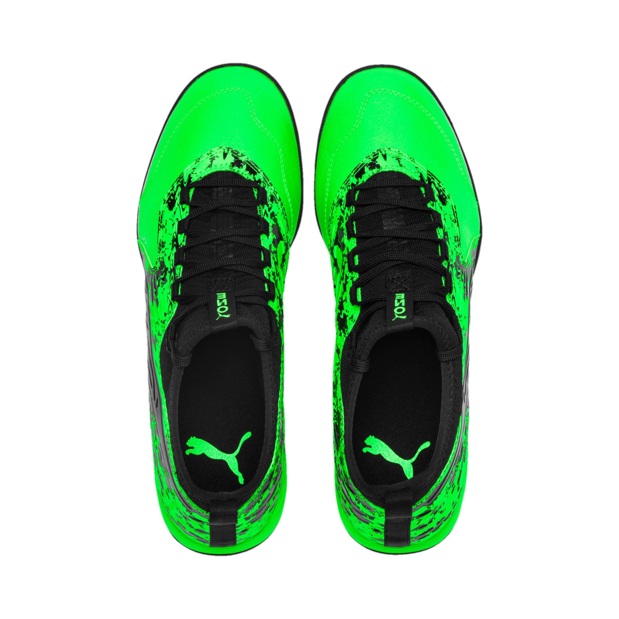 Miniatura 6 de Zapatos de fútbol PUMA ONE 19.3 TT para hombre, Green Gecko-Black-Gray, mediano