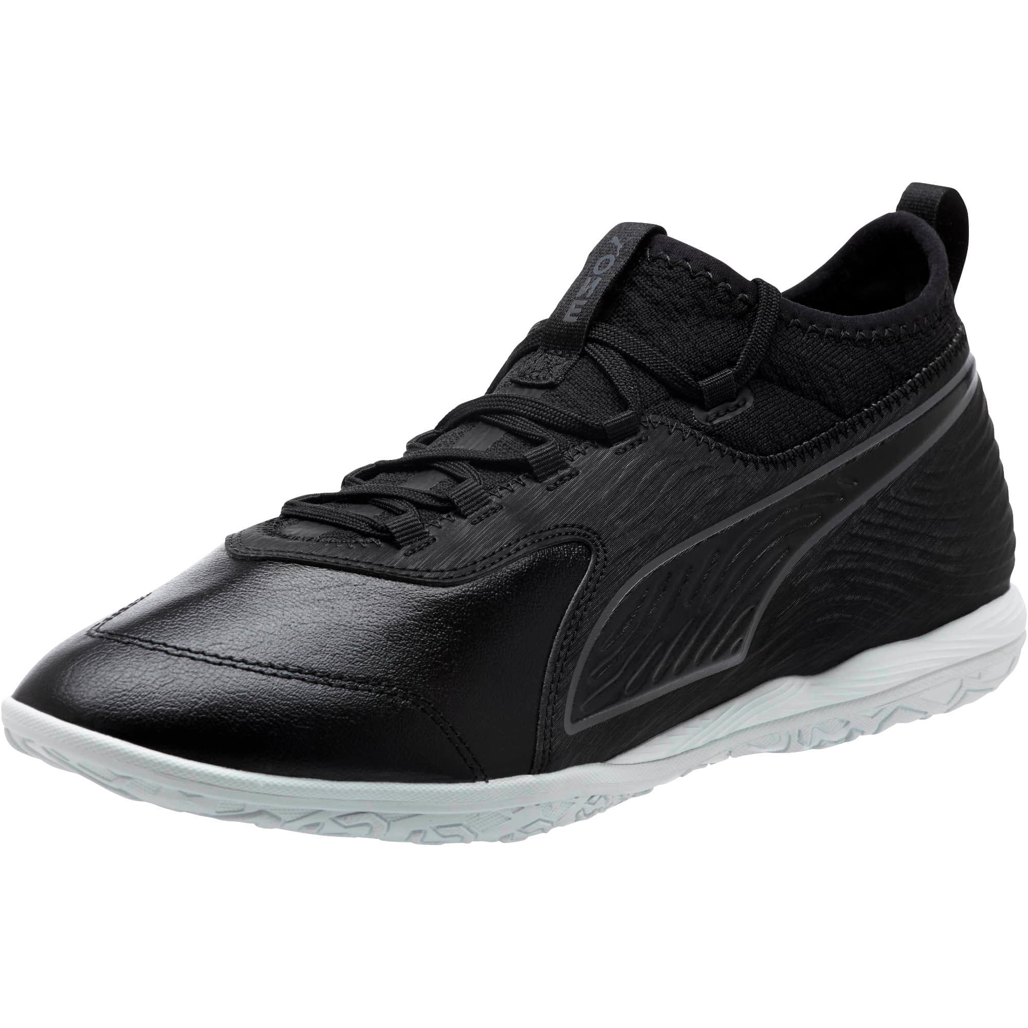 Thumbnail 1 of PUMA ONE 19.3 IT Men's Soccer Shoes, Puma Black-Puma Black-White, medium