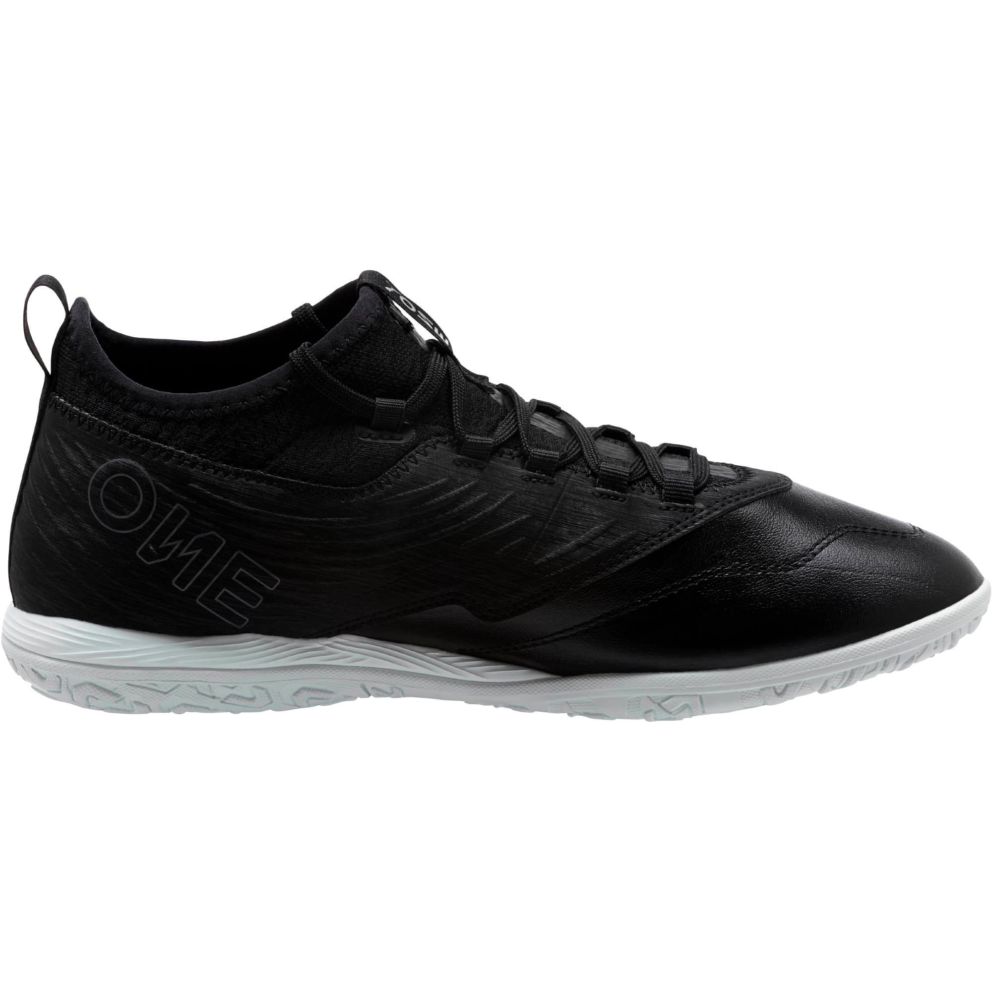 Thumbnail 4 of PUMA ONE 19.3 IT Men's Soccer Shoes, Puma Black-Puma Black-White, medium