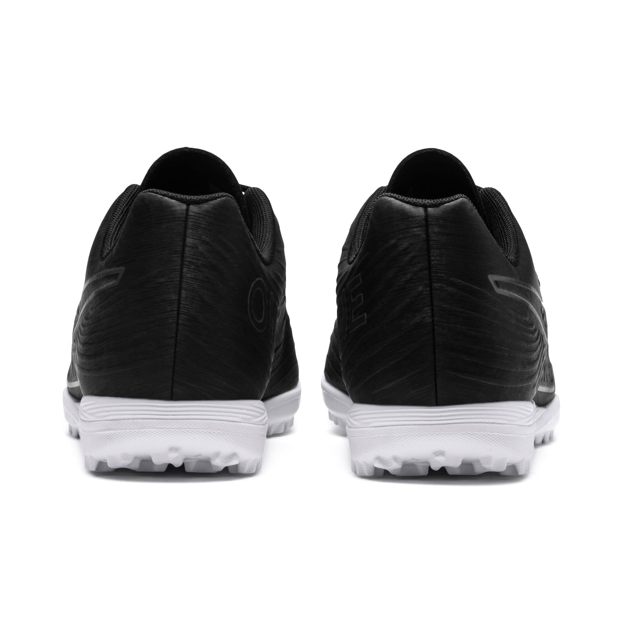 Thumbnail 3 of PUMA ONE 19.4 TT Men's Soccer Shoes, Puma Black-Puma Black-White, medium