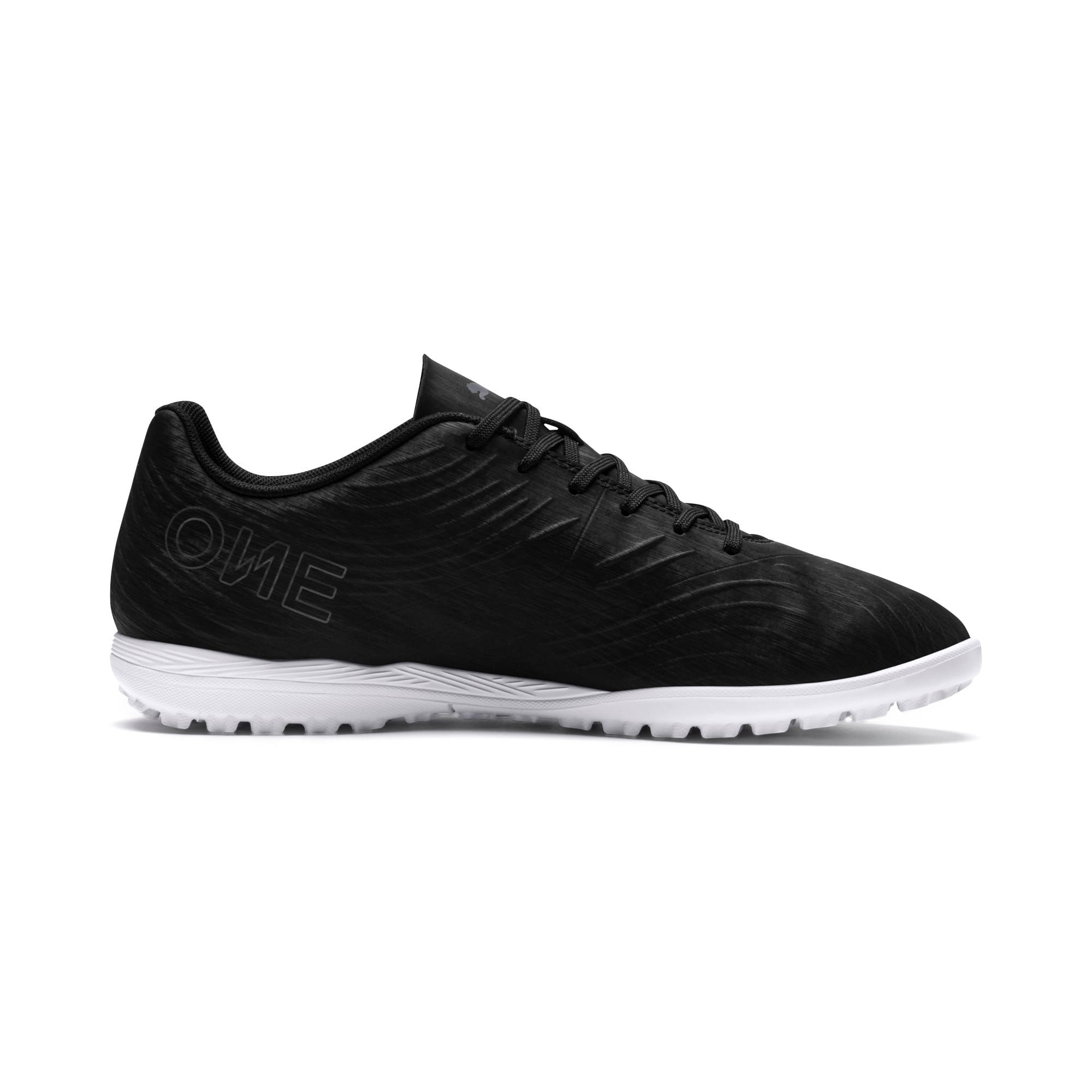 Thumbnail 5 of PUMA ONE 19.4 TT Men's Soccer Shoes, Puma Black-Puma Black-White, medium
