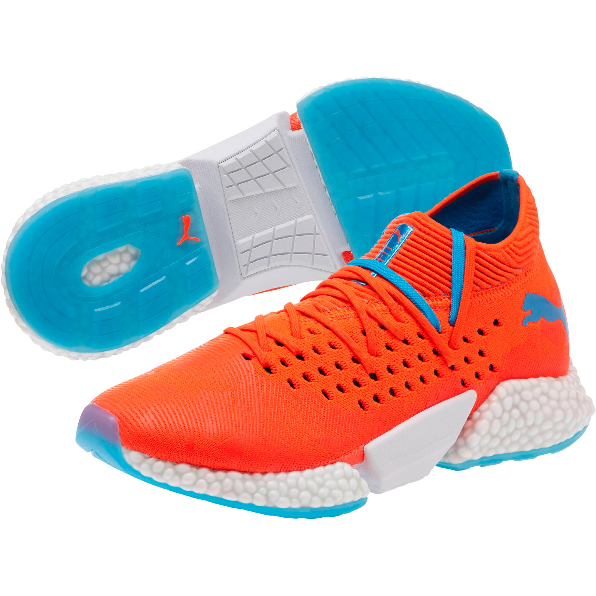 Thumbnail 2 of FUTURE Rocket Men's Running Shoes, Red Blast-Bleu Azur, medium