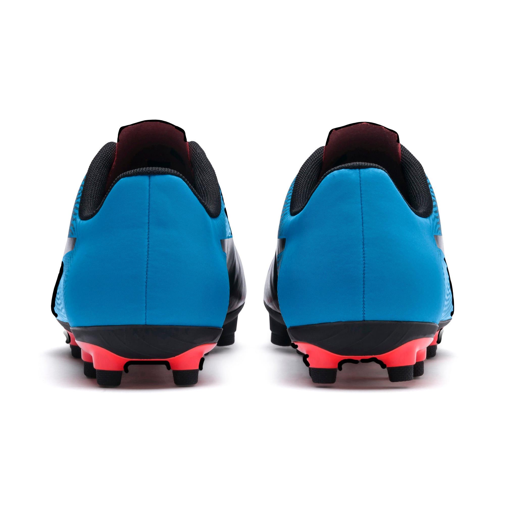 Miniatura 4 de Botines de fútbol PUMA Spirit II FG para hombre, Black-Bleu Azur-Red Blast, mediano