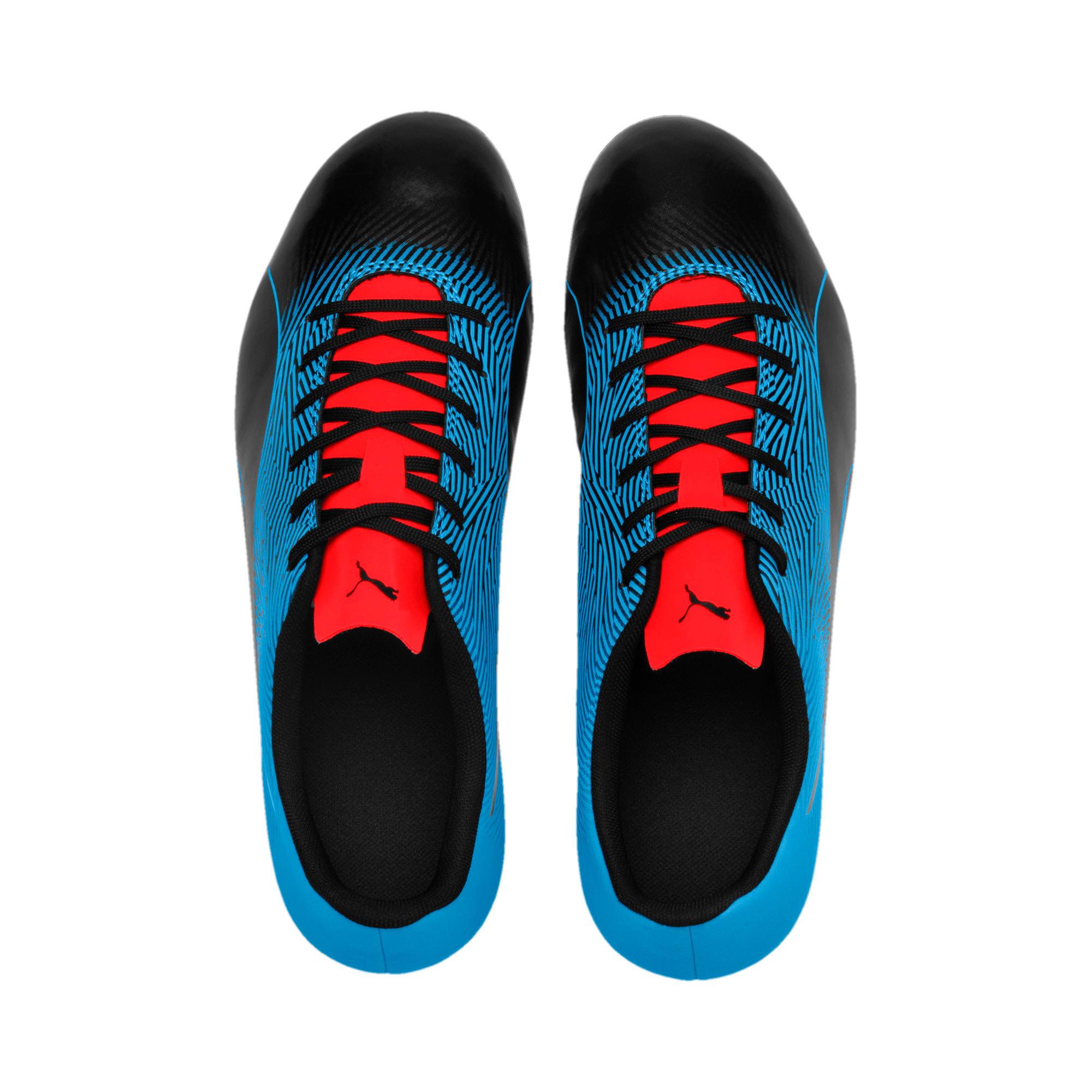 Miniatura 6 de Botines de fútbol PUMA Spirit II FG para hombre, Black-Bleu Azur-Red Blast, mediano