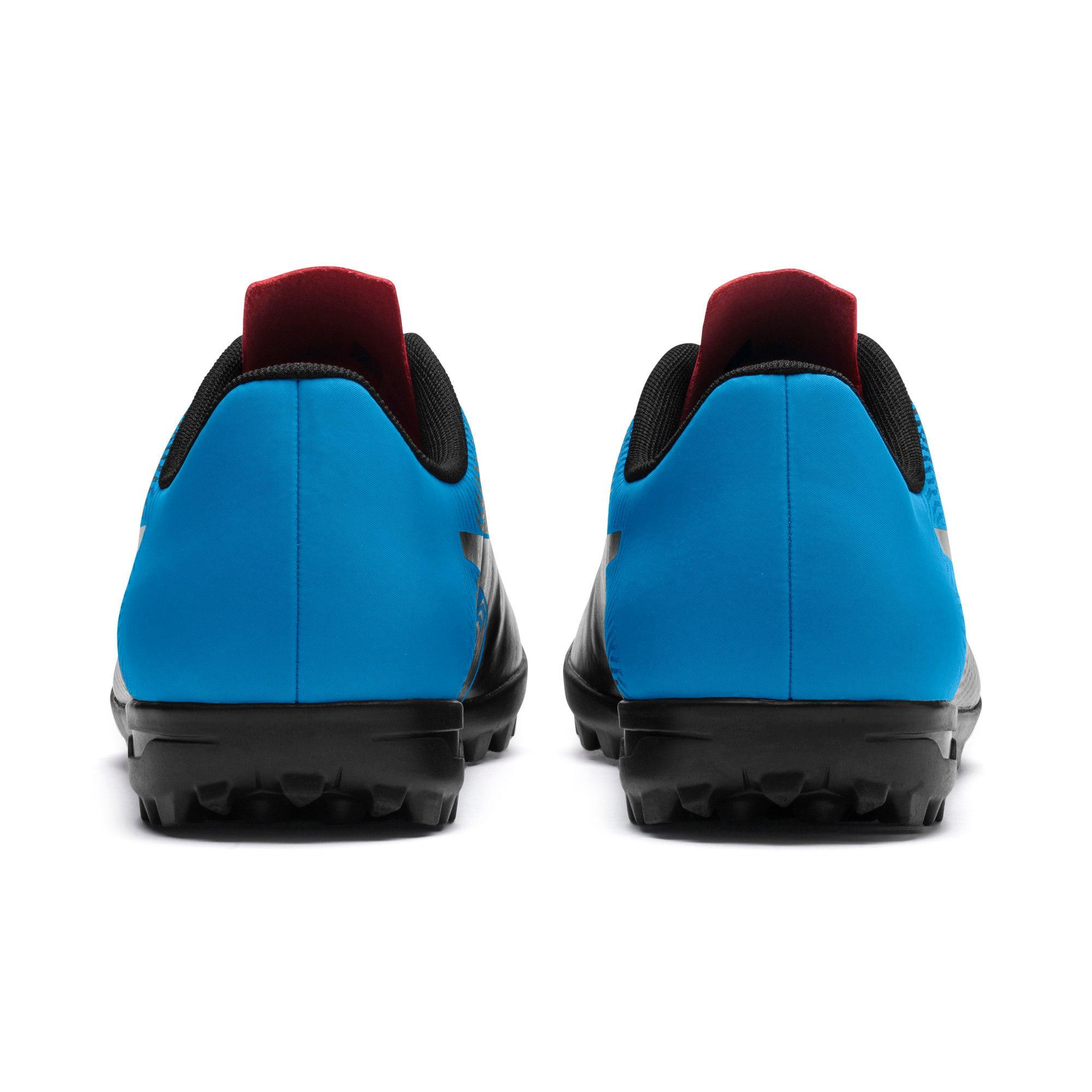 Thumbnail 4 of PUMA Spirit II TT Men's Soccer Shoes, Black-Bleu Azur-Red Blast, medium