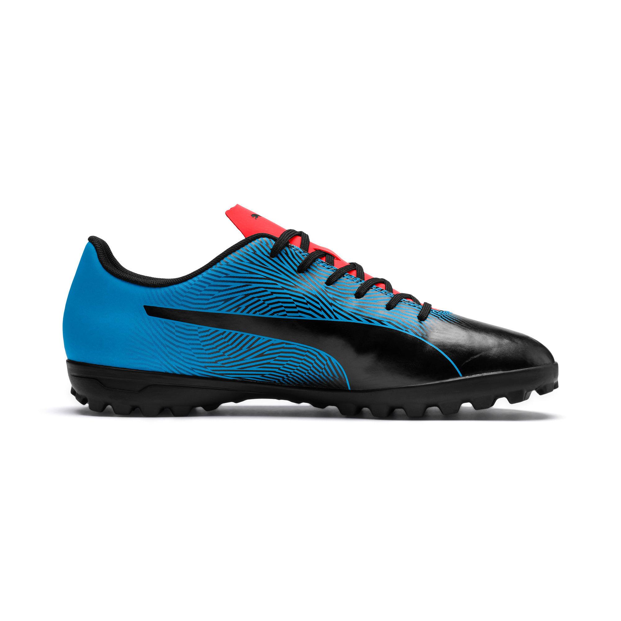 Thumbnail 5 of PUMA Spirit II TT Men's Soccer Shoes, Black-Bleu Azur-Red Blast, medium