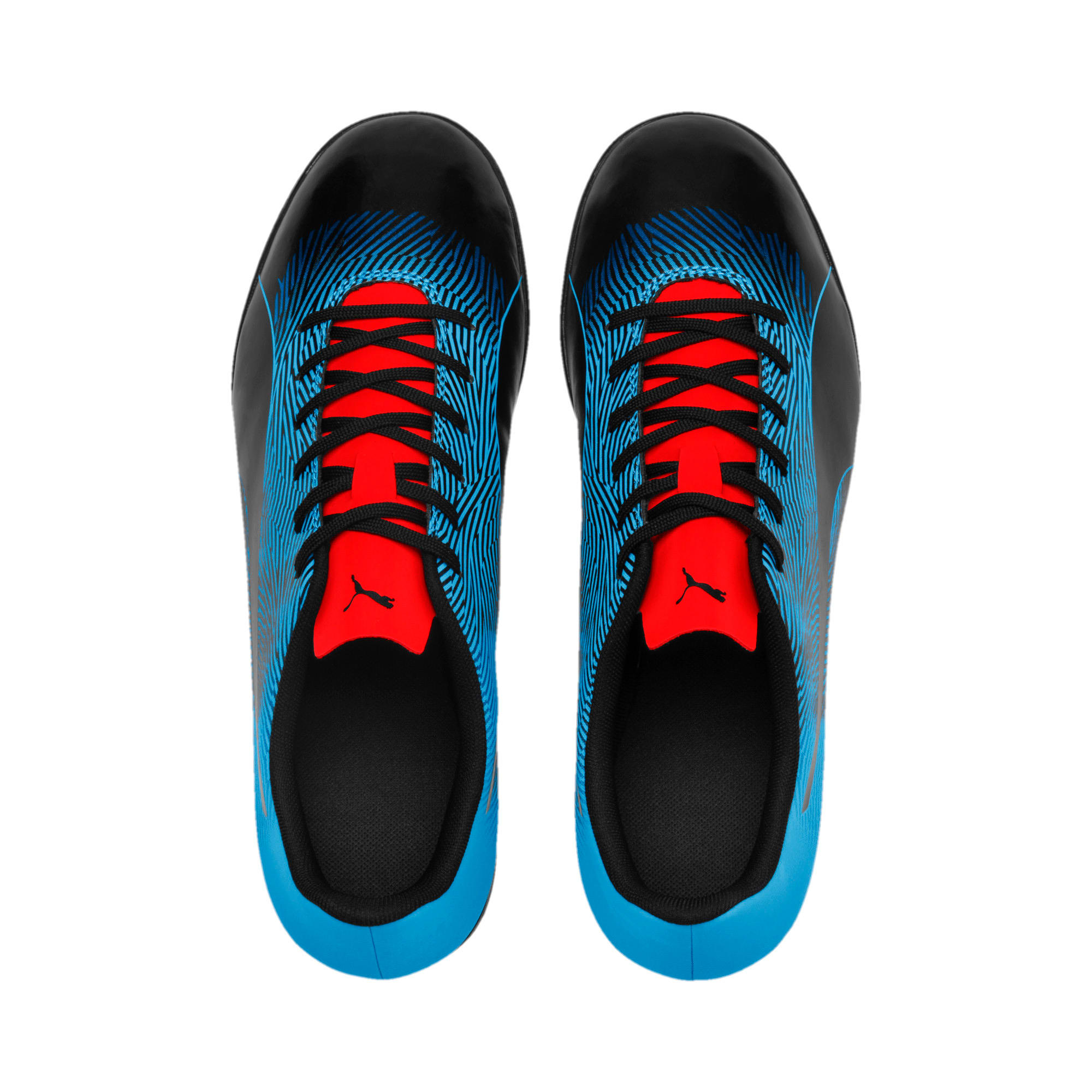 Thumbnail 6 of PUMA Spirit II TT Men's Soccer Shoes, Black-Bleu Azur-Red Blast, medium