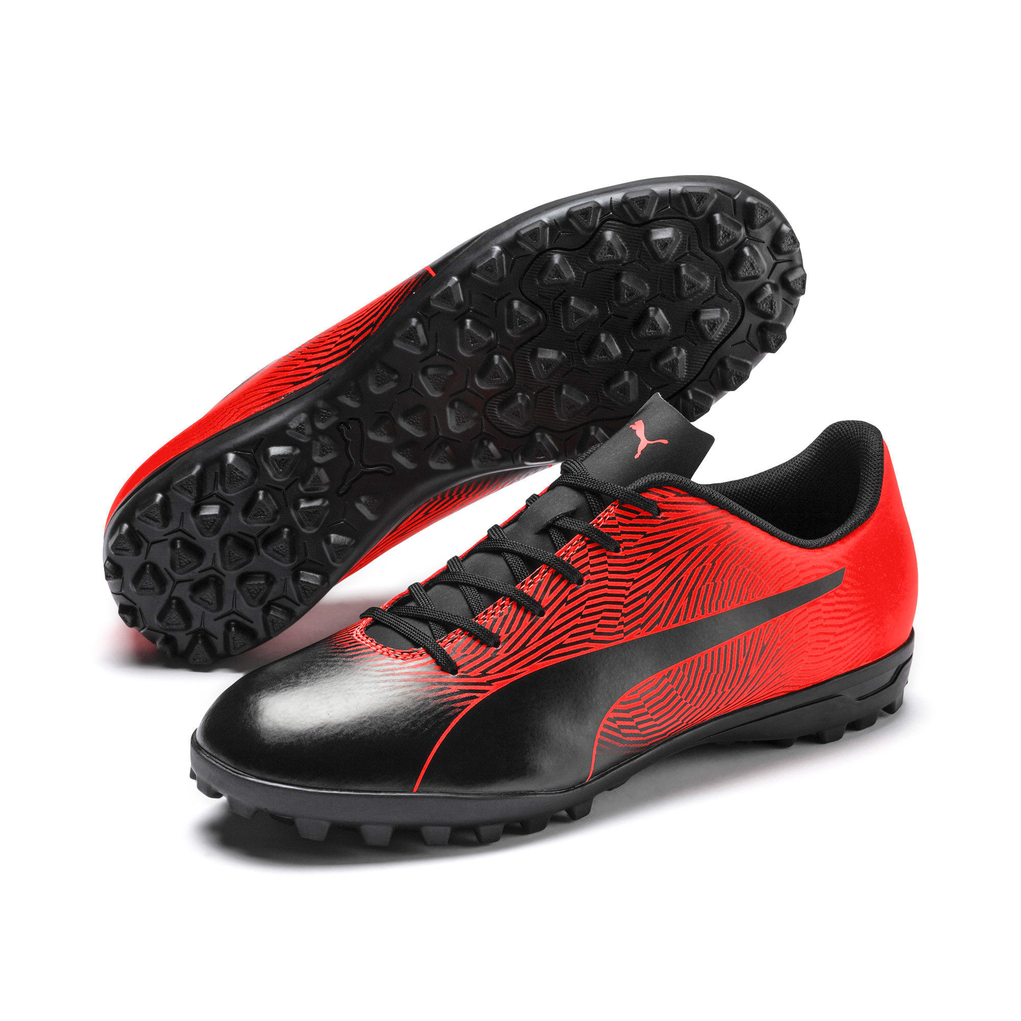 Thumbnail 2 of PUMA Spirit II TT Men's Soccer Shoes, Puma Black-Nrgy Red, medium