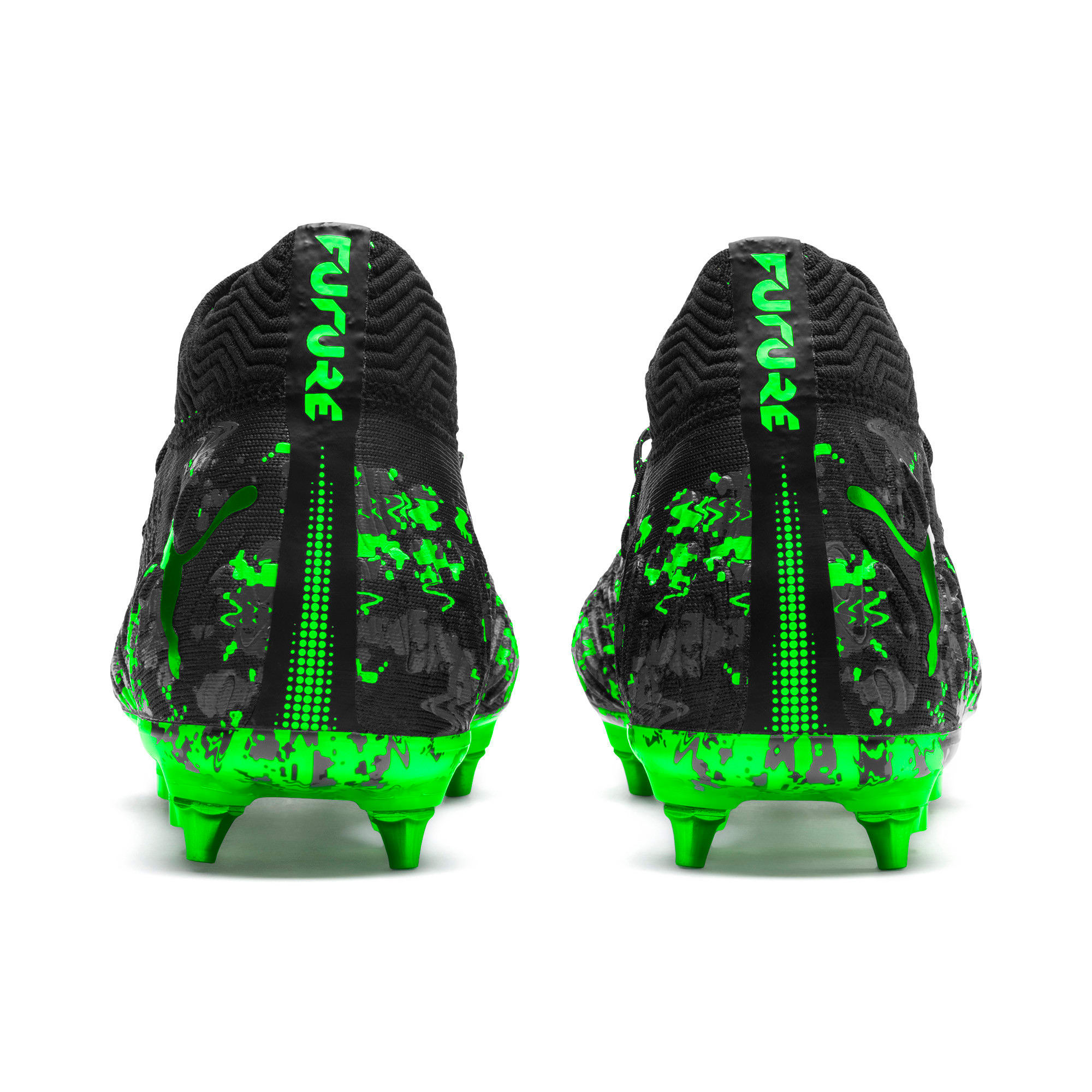 Thumbnail 3 of FUTURE 19.1 NETFIT MxSG Football Boots, Black-Gray-Green Gecko, medium