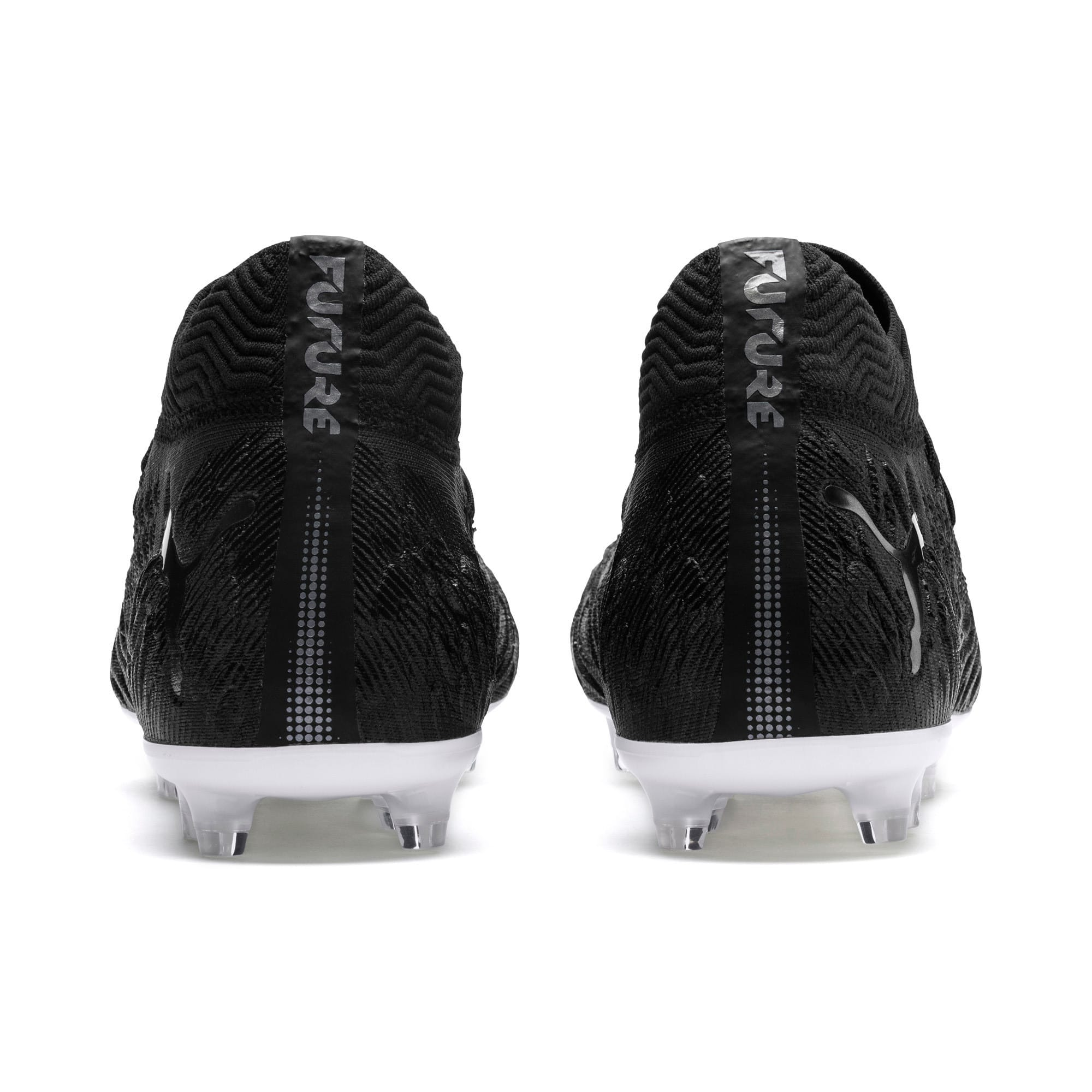 Thumbnail 3 of FUTURE 19.1 NETFIT FG/AG Men's Soccer Cleats, Black-Black-White, medium