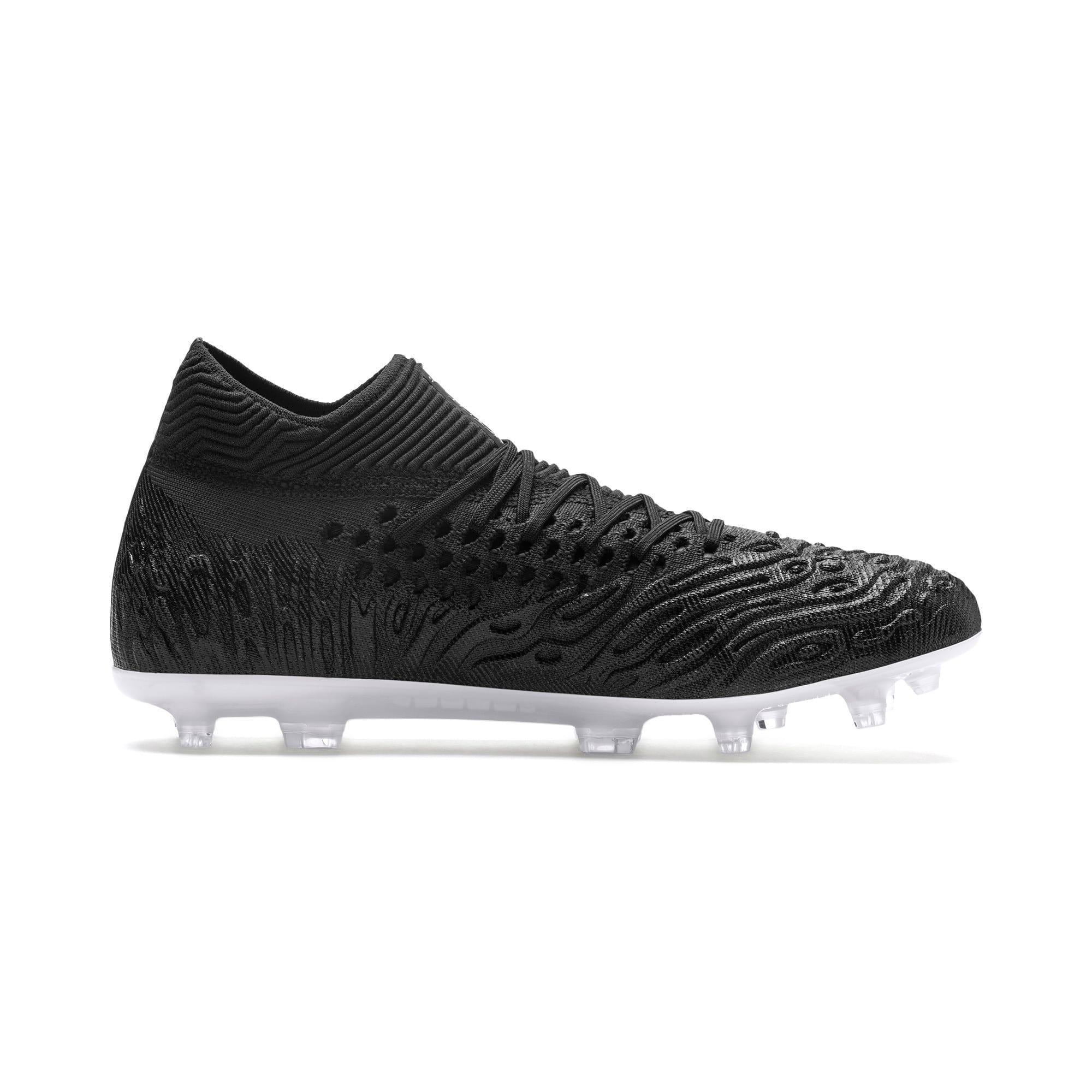 Thumbnail 5 of FUTURE 19.1 NETFIT FG/AG Men's Soccer Cleats, Black-Black-White, medium